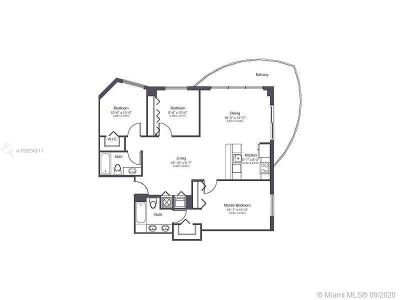 3/2 WITH AMAZING DIRECT VIEW OF BISCAYNE BAY, 2 ASSIGNED PARKING SPACES, SS APPLIANCES, LAMINATE WOOD FLOORS IN DINING/LIVING AREA AND CARPET IN BEDROOMS! NEST A/C CONTROL