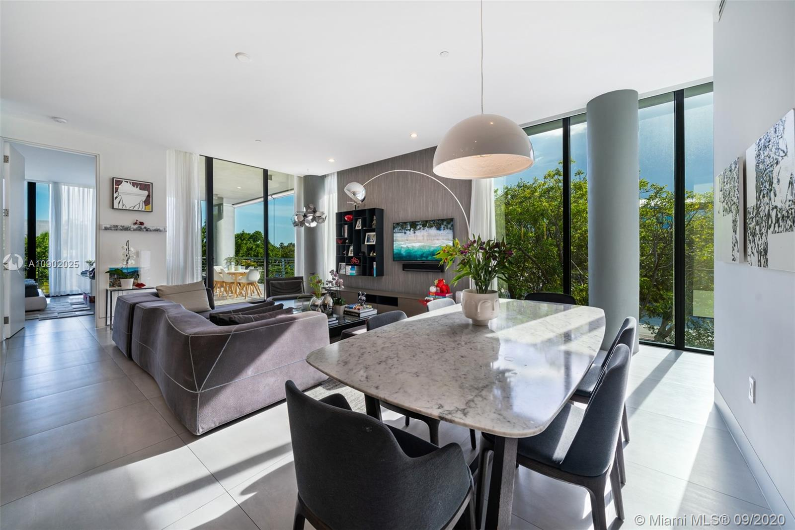 Live in this unique jewelry in Key Biscayne. The only one condo with private elevator access and no neighbors in the building, Fully automated condo with lutron and sonos system controlled by phone, Automatic blinds and terrace's wind sensor shades. The largest terrace in the building with a remodeled summer kitchen, refrigerator and ice maker build in. Completed remodeled Master bedroom with Spazio di Casa Italian closets. Remodeled master bathroom with toto automatic toilet. Remodeled laundry room with comfortable closet and laudry tub. Air scenses automatic system. Huge remodeled two floors storage at street level. Stunning views all around the condo with Lush green vegetation unique in the key. 2 parking space ready to receive your electrics cars plus a golf cart parking space.