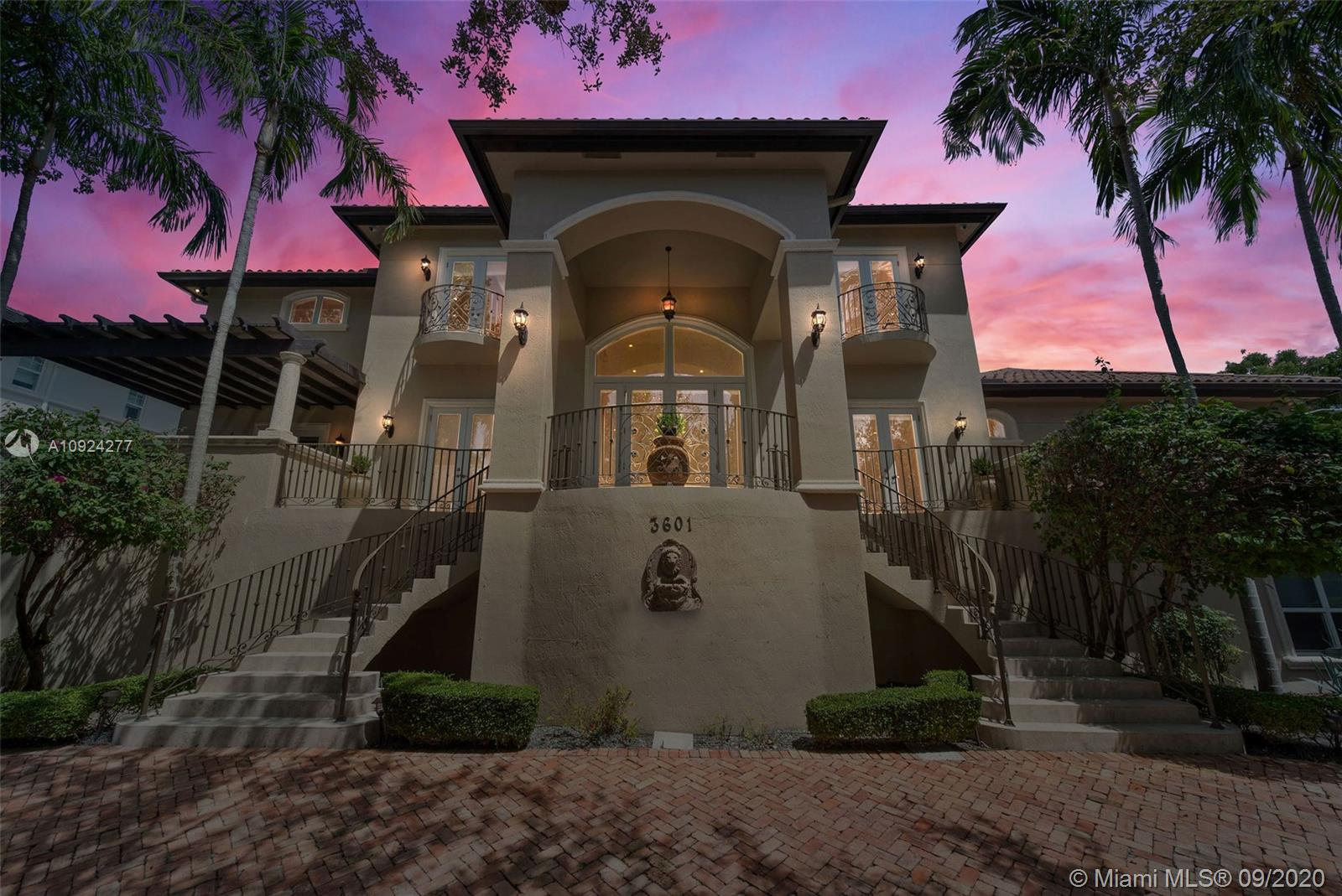 """Located w/in 24/7 guard-gated enclave of Entrada Estates. No other home in Miami epitomizes the lifestyle and functionality of floor plan as does this property!  Property features SPACE – almost 21,000 sq. ft. in total including unique """"basement"""" area built-out with full second kitchen, theatre, gym, lounge, playroom, family room, & garage.  All electric sockets on this level located above flood lines and pump station in place to extract water.  Main house (insurable living area) starts on 2nd floor up to 3rd floor.  Walk/bike to quaint Coconut Grove downtown & marinas. Special features include elevator, 26 cameras, mosquito misting, 6 new A/C units, 8-ft solid core wood doors, etc.  Great patio overlooking free-form pool w/waterfall, outdoor shower & cabana bath."""