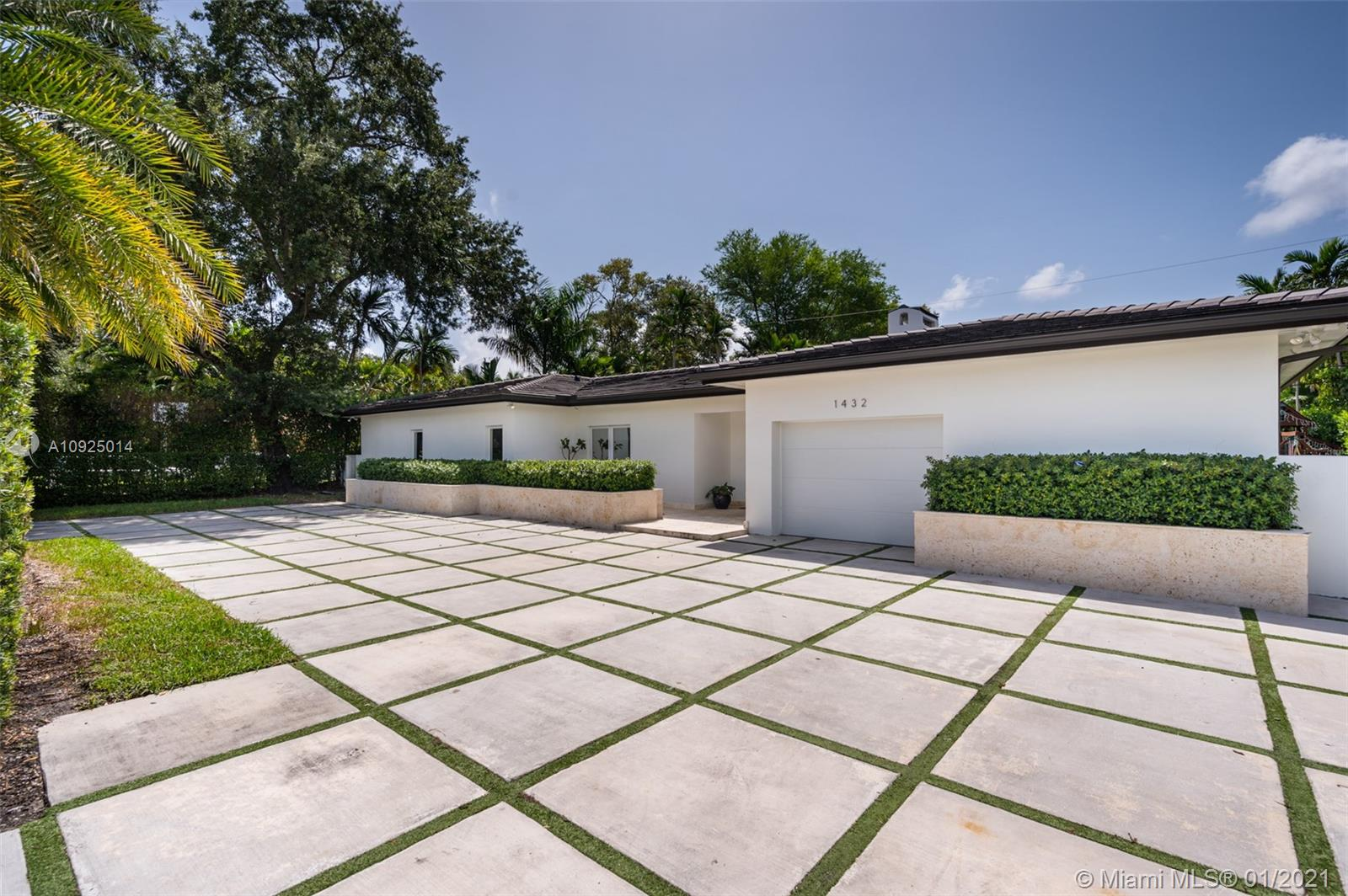 Completely renovated in 2017, this inviting residence boasts a classic contemporary design featuring an open floorplan of 4 beds + staff quarters & 5.5 baths sitting on an 11,000+ sqft lot.  With 4000 sf of clean modern lines and open spaces, lots of natural light, marble throughout, a brand-new roof, 2 new AC units, impact windows, an open eat-in kitchen, spacious bedrooms, luxurious master suite with a walk-in closet, guest suite on the second floor, and a working fireplace. This home is a must see as it is perfectly located in the heart of Coral Gables, near the Riviera Country Club with easy access to highways and near great schools. Surrounded by lush landscaping, this home is great for indoor and outdoor entertaining with a new pool and outdoor shower enclosed in artificial grass.