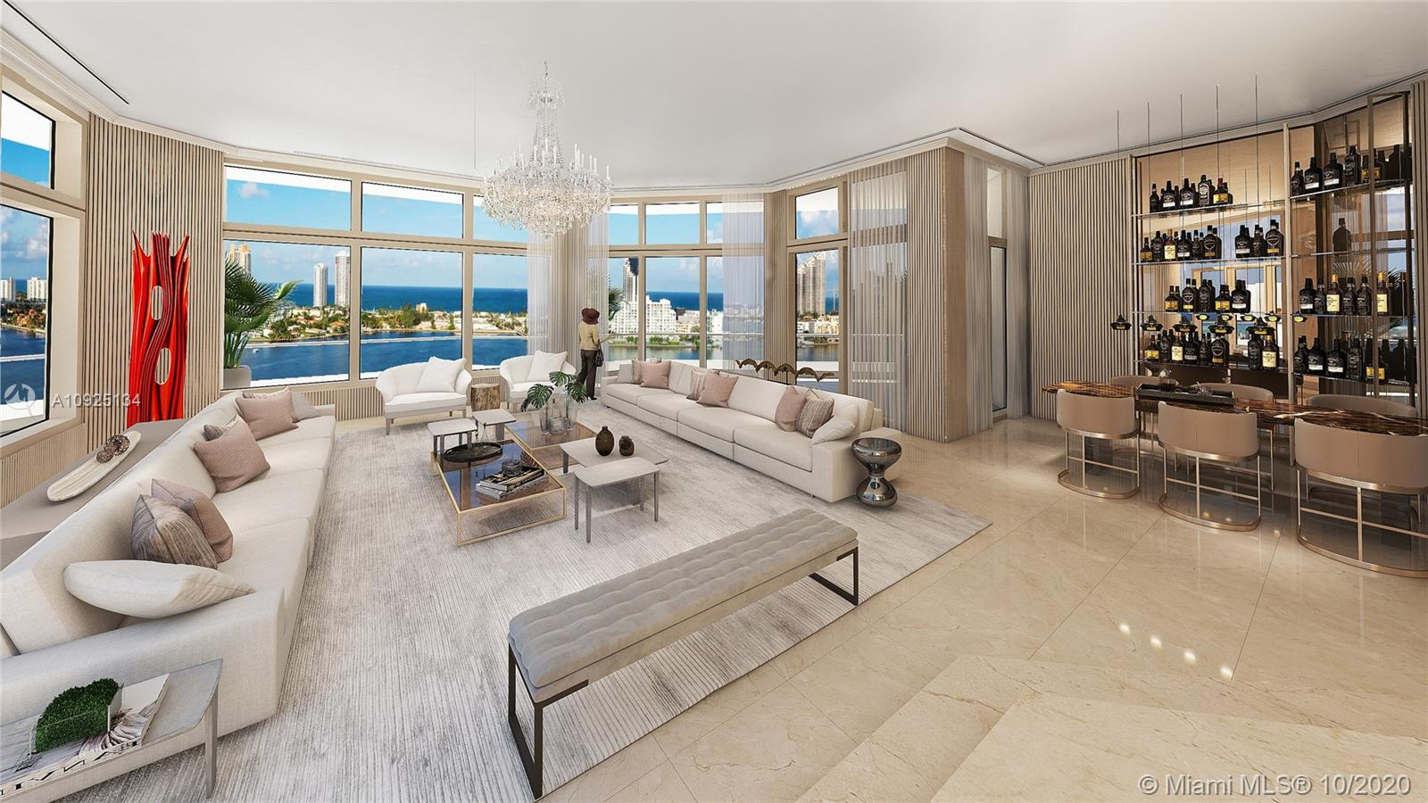 Enjoy breath-taking vistas from this majestic Penthouse at Residence Du Cap. Located in the exclusive Williams Island in Aventura, this 2-Story Penthouse boasts 5,880 Sqft of living area, 4 bedrooms & 5.5 bathrooms, a formal dining room, a huge kitchen with Subzero and Gaggenau appliances, marble floors throughout, and a private elevator. This magnificent residence also features a massive wrap-around terrace with a private pool, jacuzzi, and incredible views of the ocean, intercoastal and sky-line. Residence du Cap is one of the most exclusive addresses nestled within Williams Island, with world-class amenities including a clubhouse, multiple pools, tennis courts, restaurants, spas, and a marina.