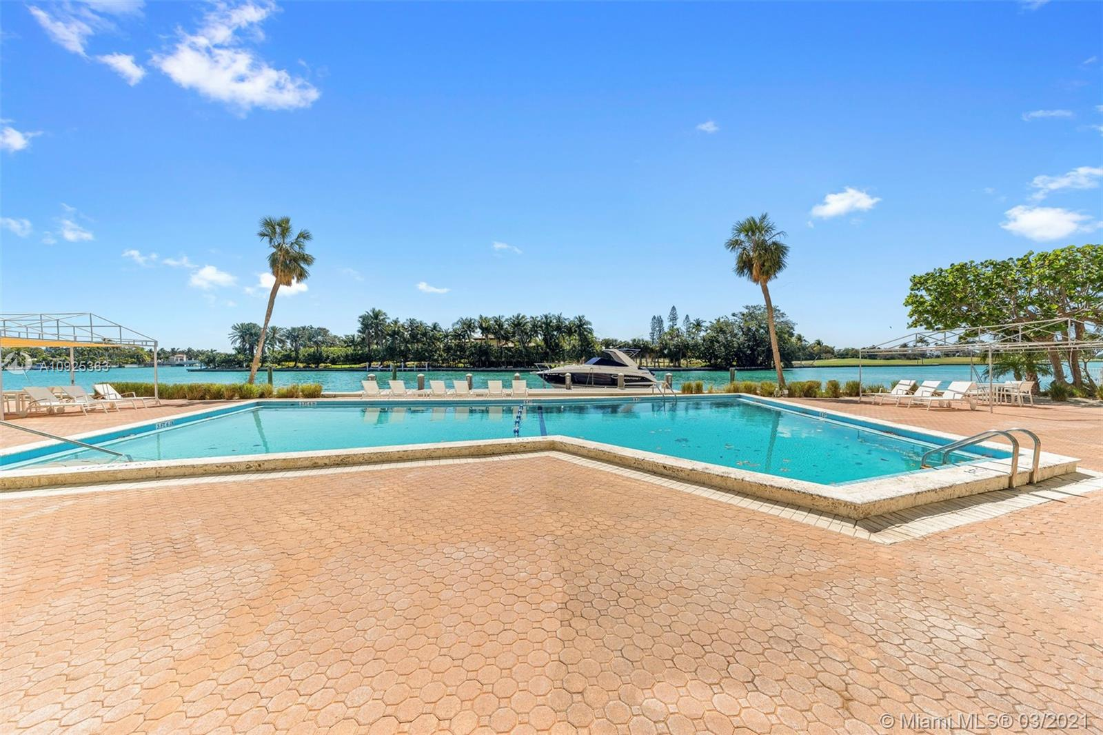 Spectacularly updated 1 bed 1.5 baths with no stone left unturned. Jaw-dropping open custom kitchen layered in Pierre Bianco countertops and smart appliances. Gorgeous white glass floors throughout, newly installed hurricane impact glass and stunningly completed baths. Enjoy breathtaking views of the intracoastal waterway, Indian Creek golf course and sunsets. Amenities include bayfront swimming pool, exercise room and doorman. Complete building renovations including new bldg mechanicals in 2016 and common area/façade reno in 2017. The maintenance fee includes hot water and air conditioning. Located within walking distance to pristine beaches, Bal Harbour Shops, fine dining, houses or worship and A-rated K-8 public school. Situated on the most southern point of Bay Harbor Islands!
