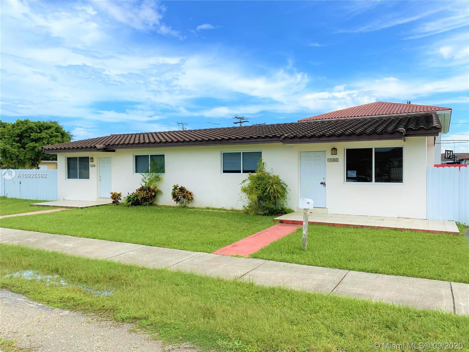 "Tremendous opportunity to purchase an updated duplex in an unbeatable location! Major upgrades have been completed to both units and requires very little work to be ""rent ready"" or to become your new home. Tile thorough-out, remodeled bathrooms and metal fence. Conveniently located near major expressways, Tropical Park and shopping centers. Non-confirming use due to illegal detached addition at side of original structure. Buyer must assume and bring into compliance post closing. A great investment!"