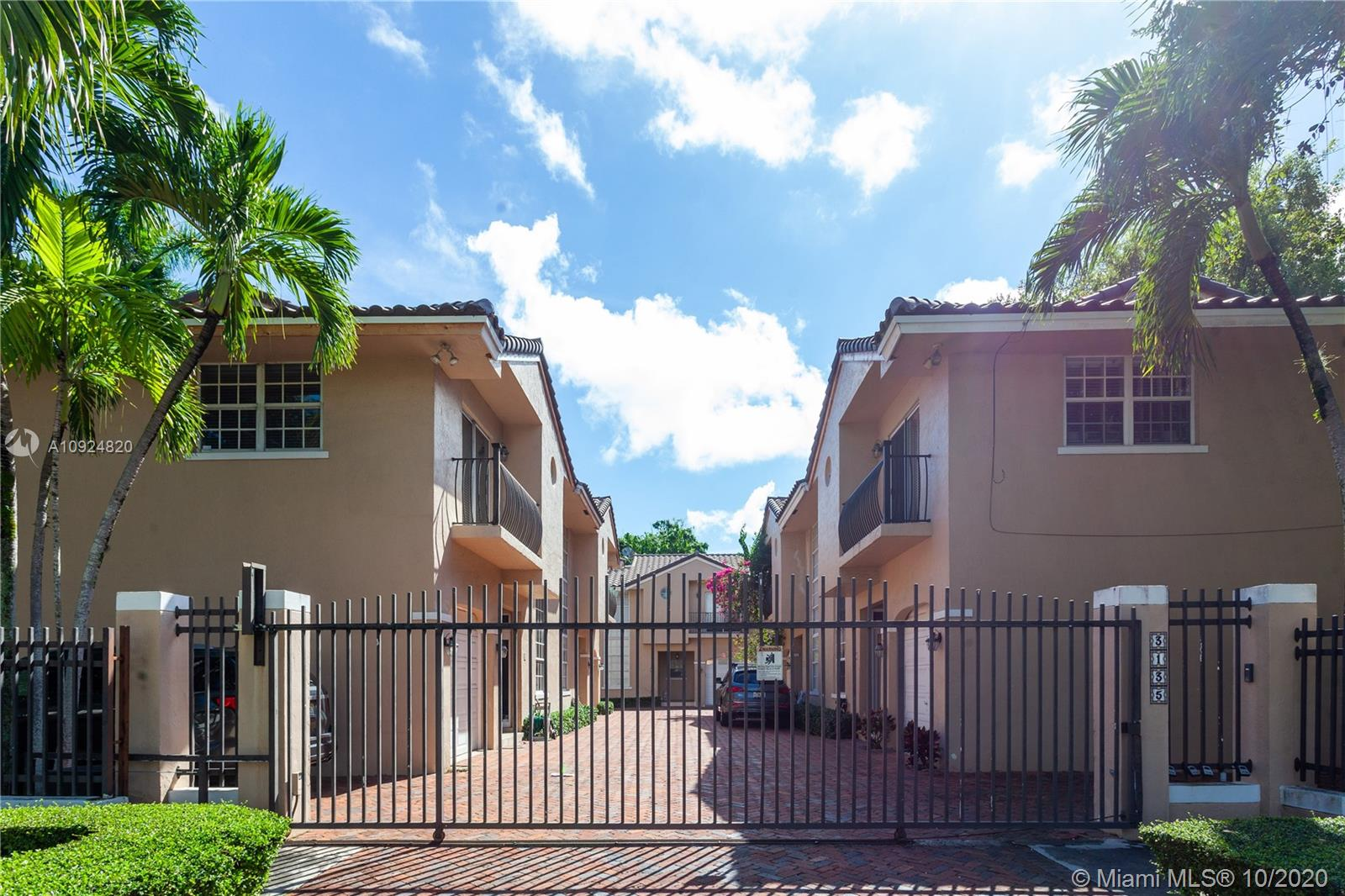 Your chance to live on one of the most beautiful streets in Coconut Grove! Be a part of a wonderful community of 6 villas.  Just steps to the new CocoWalk that's opening very soon, as well as, many restaurants , shops, boutiques and schools! This Newly renovated townhouse has 3 beds/2.5 baths.  The garage has been converted which is perfect for a playroom, office or 4th room. 1430 Sq ft. 