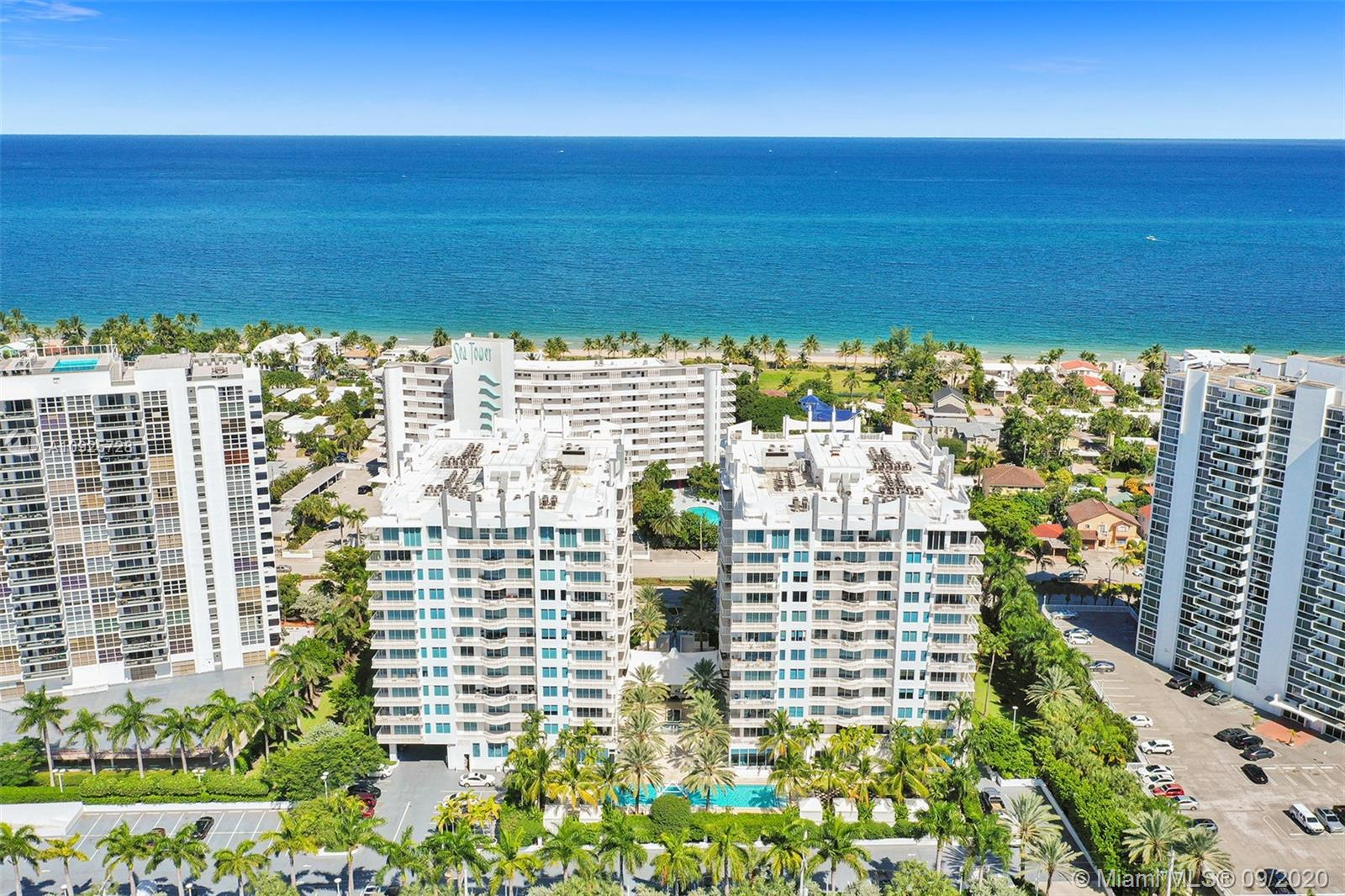 *Special Financing Available* Beautiful Fort Lauderdale Condo for Sale! The Sapphire is a contemporary building with 5- Star Luxury Resort Living amenities. This 2 Bedroom and 2 Full Baths + Den on 1274 sqft features intercostal and ocean views. 24x24 porcelain floors in the living room and carpet in bedrooms. Split floor plan. All rooms have access to the balcony. Open kitchen w/Smart SS appliances, granite counters. Washer/Dryer in the unit. 5-Star Amenities incl: 24 Hr Security, Resort Style Pool, Fitness Center, Spa, Business Ctr, Private Dog Park * Ownership incl membership to elite Club Harbor Beach at the Marriott Resort w/golf & tennis privileges... Call the listing agent for more info!.... Virtual Tour Available!