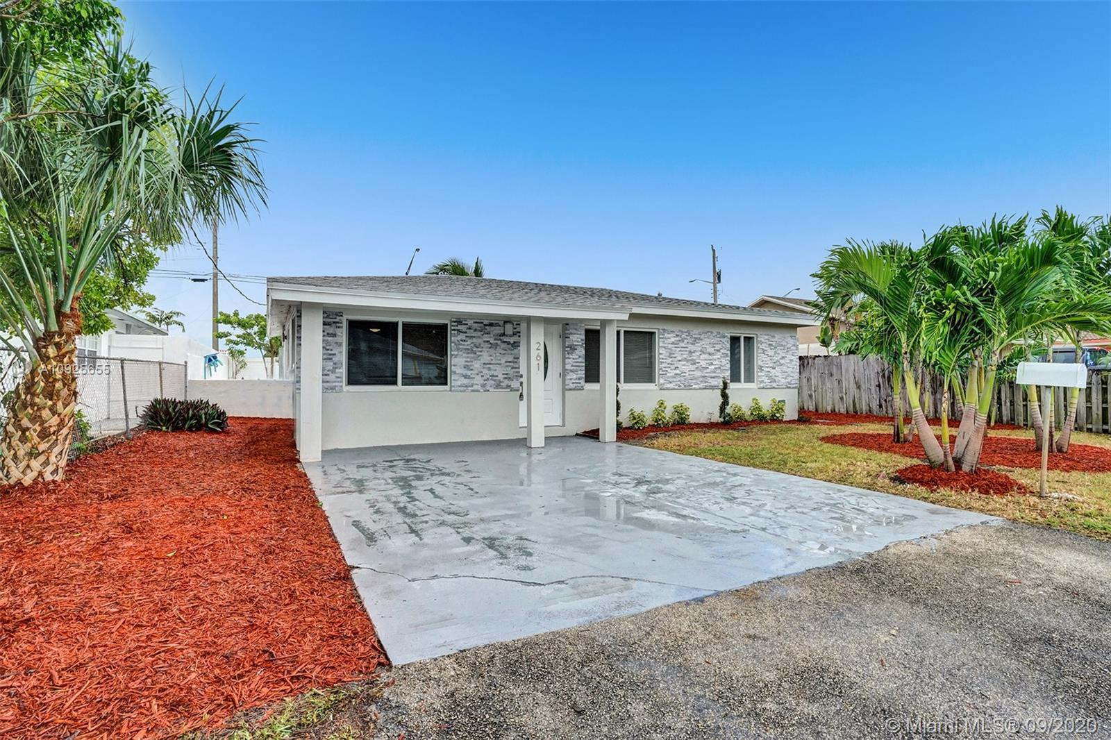 BEAUTIFULLY FULLY REMODELED 3 BEDROOM 2 BATHROOM HOME WITH VERY LARGE POOL IN THE HEART OF OAKLAND PARK! PERFECT TURN-KEY HOME OR VACATION RENTAL OPPORTUNITY! HOME FEATURES ALL HURRICANE IMPACT WINDOWS AND DOORS, 2020 SHINGLE ROOF, 2015 A/C UNIT, 2016 WATER HEATER, NEW BATHROOMS, NEW IRRIGATION SYSTEMS WITH NEW PLANTS, NEW CUSTOM KITCHEN WITH HIGH-END EUROPEAN CABINETS, QUARTZ COUNTERTOP, RECESSED LIGHTING THROUGHOUT, BACKYARD WITH LARGE POOL NICE FOR ENTERTAINMENT, SPACIOUS DRIVEWAY, FRESHLY PAINTED INSIDE/OUT... MINUTES FROM SCHOOLS, BEACH, SHOPPING PLAZAS, ETC... HURRY THIS WONT LAST LONG!! *** BRAND NEW STAINLESS STEEL APPLIANCES WILL BE INSTALLED PRIOR TO CLOSING***