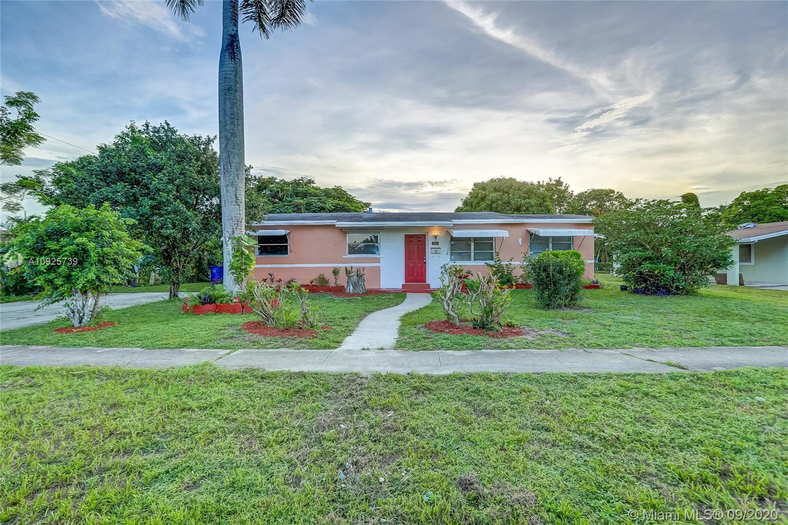 A great opportunity to own a 3 bedroom single family home in Lauderdale Lakes. The property features an incredible bonus room that can easily be converted into a 4 bedroom. Kitchen and baths have been recently remodeled. Backyard is spacious with plenty of room for a pool! A few cosmetic touches to make this home your dream home!