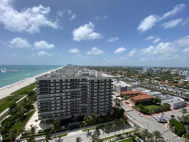 "Walk out of the elevator and step right into this beautiful Majestic Tower unit.  The private elevator entry leads you to an ample living area with floor to ceiling windows and a balcony spanning the width of the unit.  Unobstructed panoramic city and beach views. Unit has galley style kitchen, split bedroom floor plan and separate laundry room. This full service high rise offers amenities such as beach service, valet, gym, club room, salon, media room, on site restaurant and on site management. Located across the street from the famous ""The Shops of Ball Harbour"". To help visualize this home's floorplan and to highlight its potential, virtual furnishings may have been added to photos found in this listing."