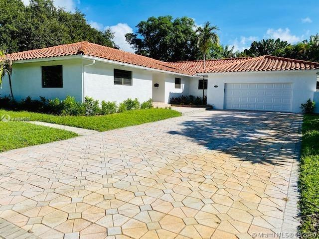 Excellent opportunity to own/invest in a great property sitting on a over sized corner lot of 14,000 sf. This 3 bed 3 bath  4000SF home is located in the traditional, desirable. family oriented Miami Shores area on a quiet tree lined street. This home features a large outdoors area with private pool, built in barbecue, great  for entertainment. Home is ready to be designed/remodeled to your own taste.   Enjoy the fruits of a huge Mango tree in your backyard. Home has brand new garage door. Seller financing available.