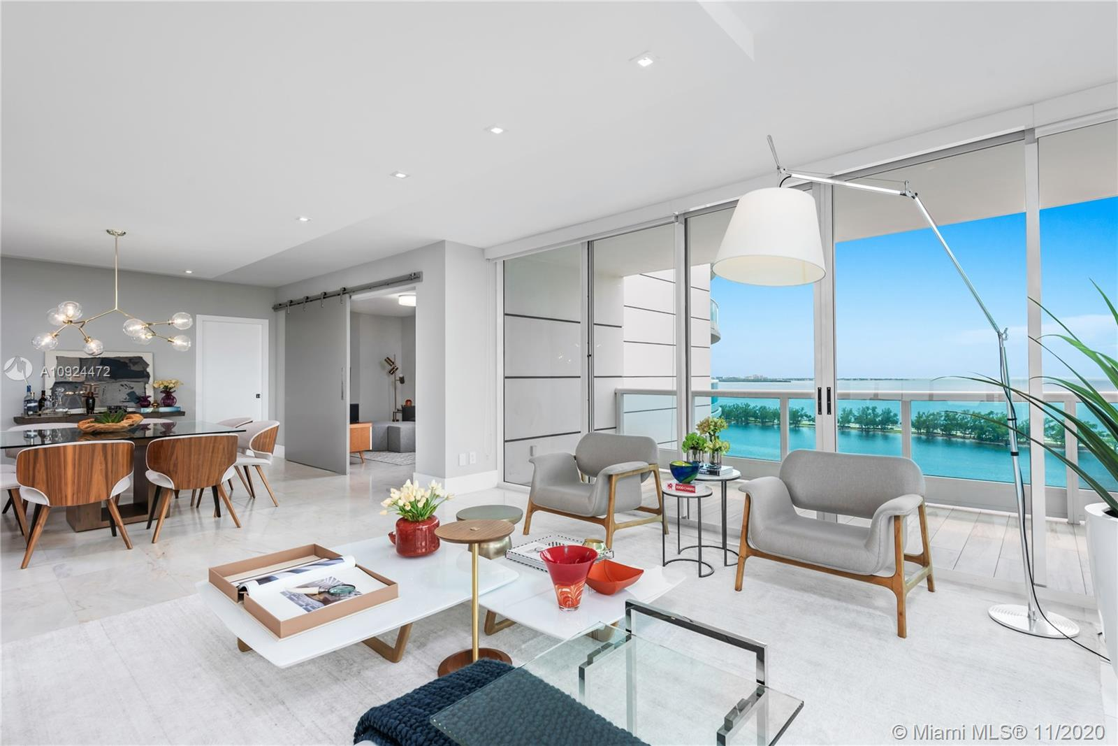 Located in the Majestic Brickell Green Corridor, Bristol Tower by Ugo Columbo/Revuelta is in close range to exquisite fine dining and entertainment of downtown Brickell. Only minutes away from I-95.  This sun-filled 3 bed/3 Bath/laundry, ultra luxurious mint newly renovated apartment is furniture ready, italian kitchen equipped with the finest appliances (Wolf, Subzero), dinnerware, glassware, all included to make your self at home, TURN KEY READY for immediate occupancy.  Quartz countertops, marble floors throughout, grand balconies with water views to KB Bay, Coral Gables, Downton Brickell Skyline. Bedrooms have exquisite hard wood flooring, italian doors,  bathrooms done to perfection.  Italian closets, storage galore.. Not one detail spared in this remodel.