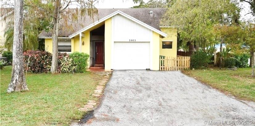 This lovely 3 bedroom 2 bath home is perfect as a starter home, or for an investor! It's located in the sought after Turtle Run area in Coral Springs, The Crossing subdivision, which is close to shopping, dinning, great schools, and major roadways. This home has amazing potential, with renovated bathrooms, an open floor plan and kitchen, and a bonus room which can be used as a family room, office, or den that leads out to the large fenced backyard.  This home features a large driveway, plenty of parking available.  No HOA fees!