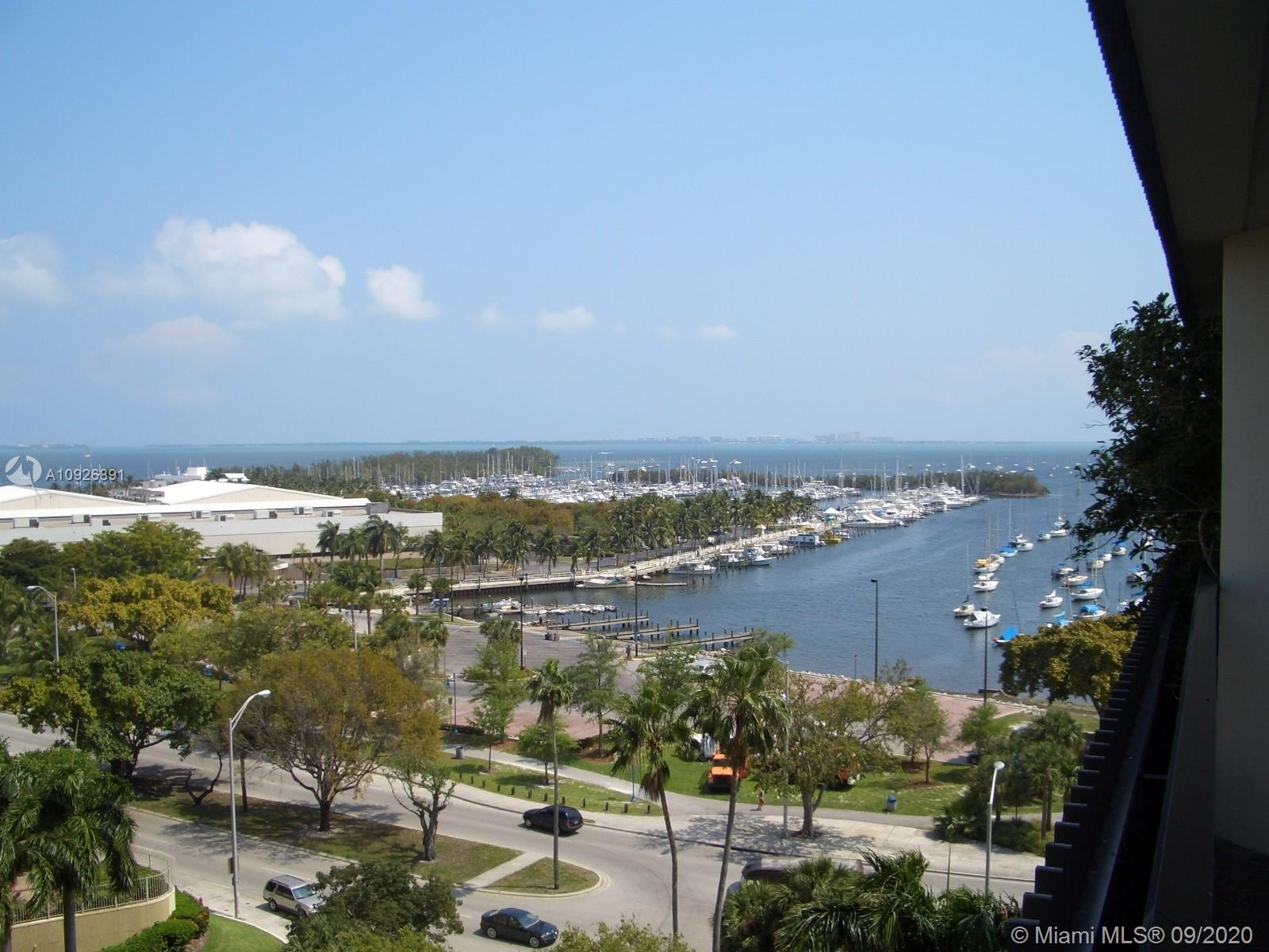 Gorgeous Coconut Grove building with easy access to all the Grove has too offer.  This large 1 bedroom 1 bath ocean view unit is in move in condition and ready for a new owner.  Designed by renowned architect, Kenneth Treister includes two heated pools, library, valet and tennis courts.  This building is in excellent shape and very well taken care of.  WASHER/DRYER in UNIT.  Easy to show and aggressively priced makes this a must see.