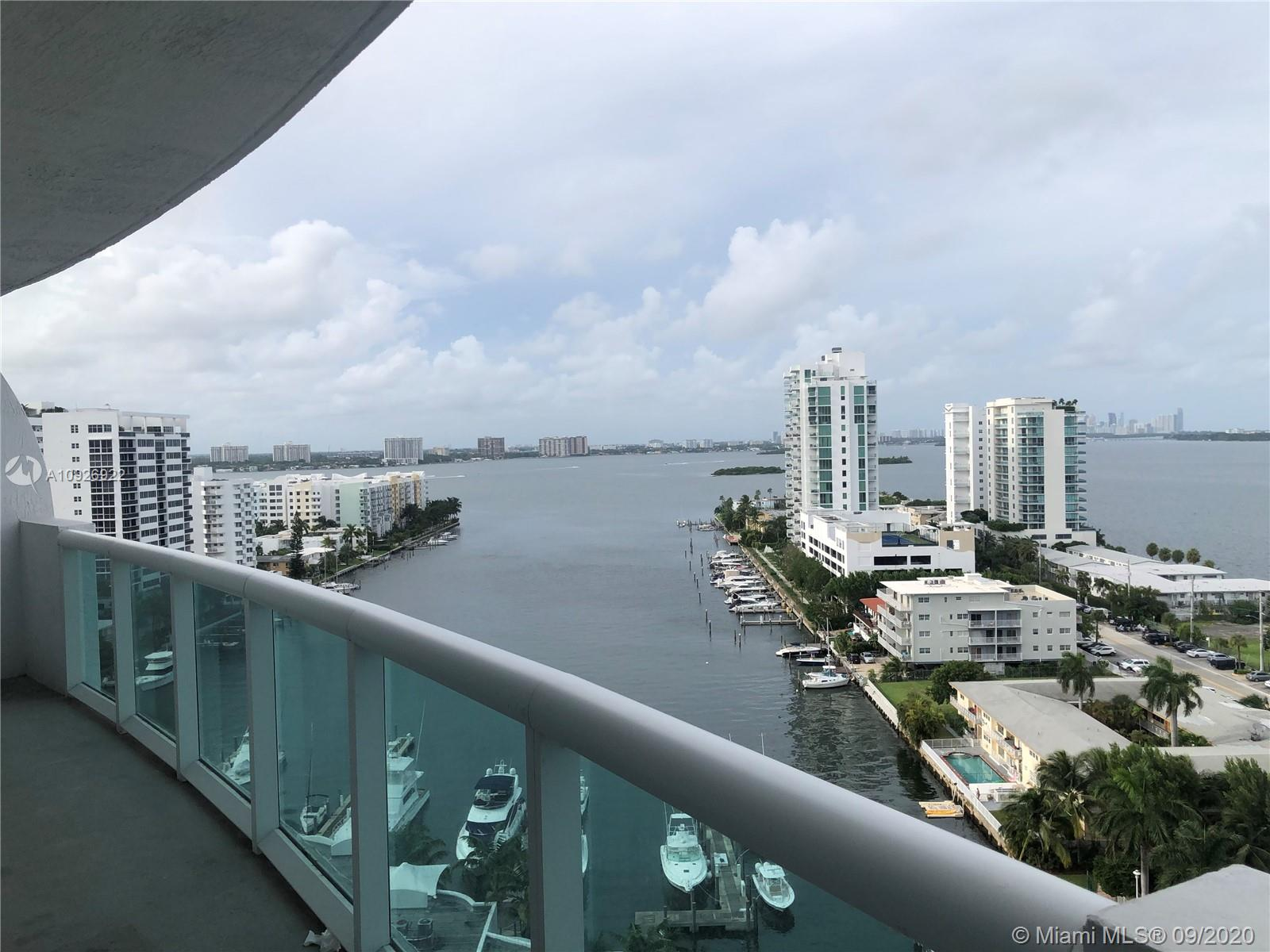 Amazing views. 2-bedroom/2-bath + DEN. Five star lifestyle. European kitchen, SS appliances and granite countertops. Master bath with jacuzzi and dual sinks, large balcony, new flooring, 2 pools,  Marina, Clubhouse, Bar BQ area, Great gym w/ sauna  7 minutes to the beach and 15 to Brickell and Downtown Miami. 24 hours security. Association includes cable and internet. Ready to move in