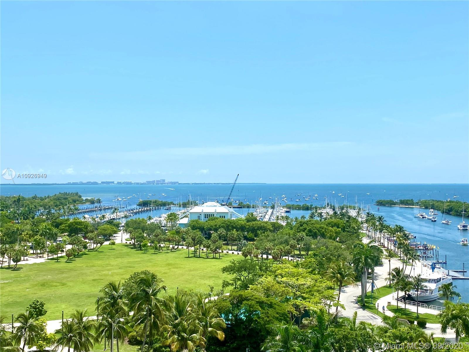 Overlooking the prized Biscayne Bay, this 3 bed condo welcomes you home to the newly delivered One Park Grove. A private elevator foyer opens to 2,884 sqft  with  12ft glass walls and a 393 sqft bayfront terrace highlighting the sensational views. Ready for your immediate enjoyment, 9B is finished with closets, drapes and light fixtures. It also boasts an open kitchen with upright wine fridge, marble countertops and high end appliances like Subzero and Wolf gas ranges, plus 2 water closets with Toto bidets in the main bath. Home to only 66 residence, One Park Grove features dedicated spa, sauna, fitness center, board room along with the 50,000 sqft of amenities of beautifully landscaped grounds. Also for rent at $16,000/month.