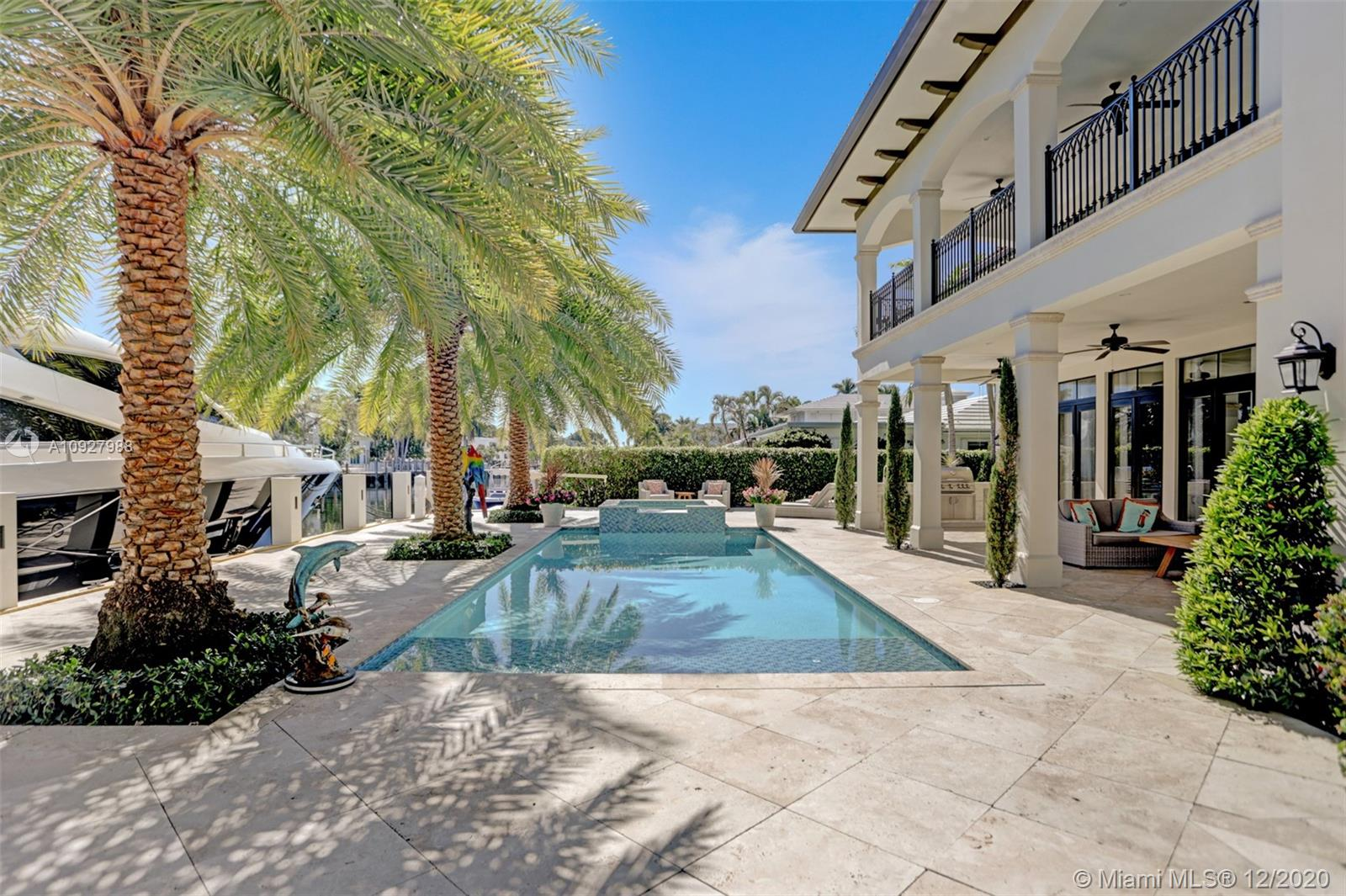 BUILT in 2017. Modern Transitional Style Home - SELLER READY TO CLOSE IN 30 DAYS! Ft Lauderdale's most prestigious waterfront neighborhoods of Nurmi Isles.New concrete dock and seawall with 95 feet of waterfront. Breathtaking views of the Venetian inspired 120 foot wide deepwater canal from every room. Hit the outdoor shower or dip in the heated salt water pool.Gourmet kitchen featuring Thermadore appliances, gas range,double ovens, take it outside to your beautiful summer kitchen. Cozy up in the formal living room in front of the gas fireplace. Take the impressive curved stairway or elevator to the 2nd floor to your grand elegant master suite. Master bath fit for a king & queen with his & hers water closets, dual vanities,grand Walk In Closet. 2 Laundry Rms, Modern Transitional Style Home