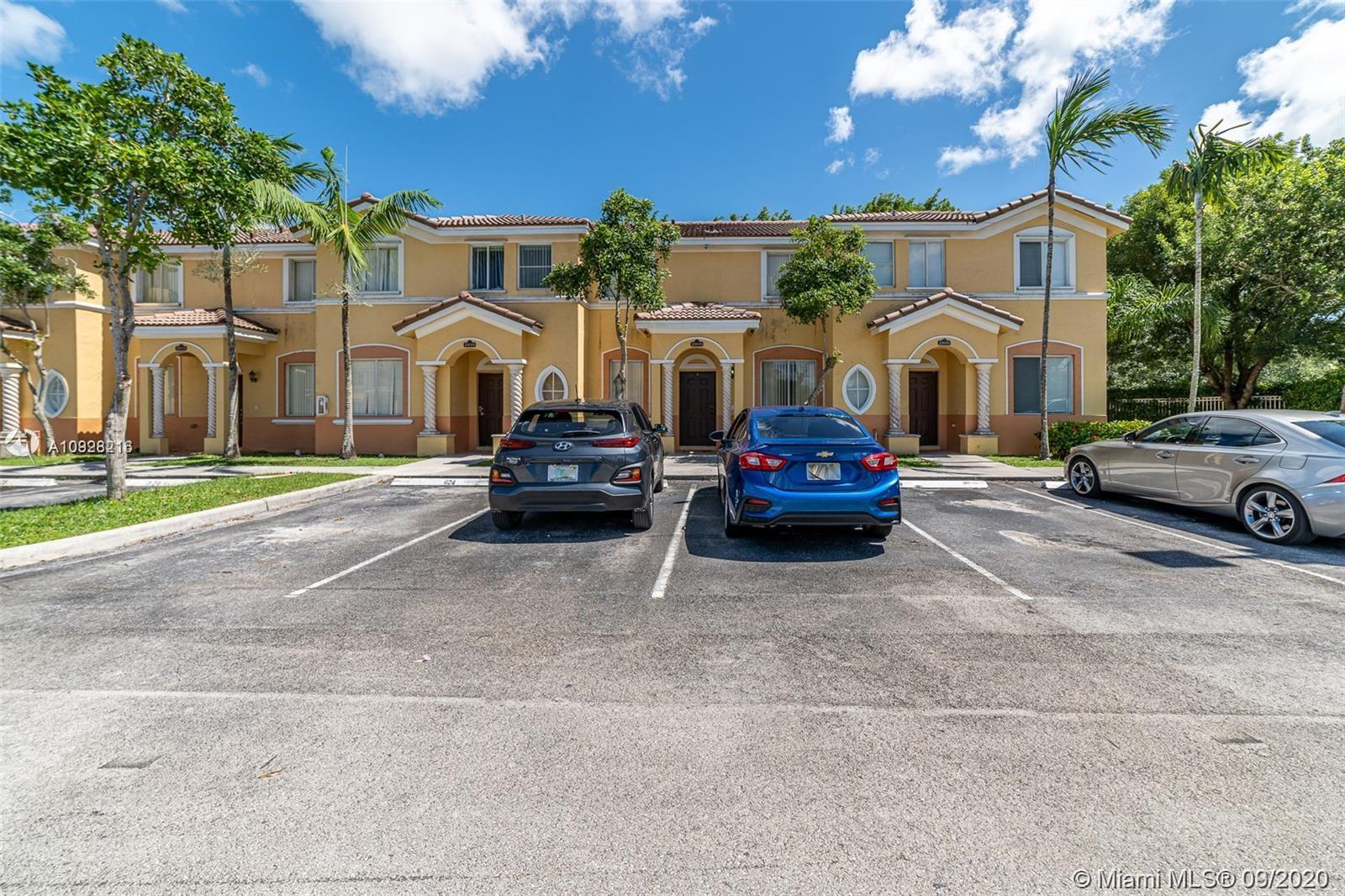 Beautiful update Town home condo 3 Bedrooms 2.5 Baths with tile throughout in 1st floor and wood floor up stair, Updated kitchen with granite countertop and stainless-steel appliances, Crown molding upgrade bathrooms, outdoor kitchen in a covered patio to enjoy. All security cameras stay 2 parking space and plenty of guest parking. Easy access to turnpike, restaurants, and local amenities. Security guard at the gate.
