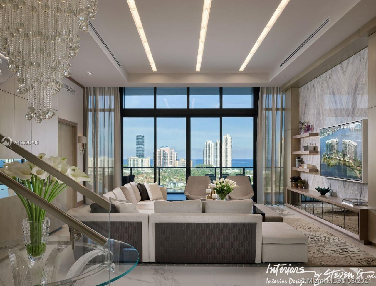 DECORATOR READY . Beautiful PH´s in the most exclusive islands in Aventura. We have the option to join the two Penthouses 1506 and 1507 and make a unique luxury apartament. Steven G made a built up proposal in which the additional cost will be the Buyers responsability.