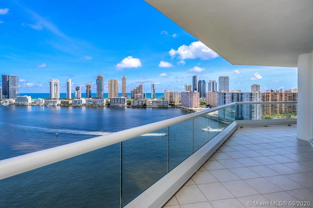 Best view of Aventura! Breathtaking spectacular intracoastal and ocean views, with a huge balcony! 3 Beds and 3 Bath and a Half bath plus den. Built in closets. Very spacious home in the luxury Residence Du Cop in Williams Island.