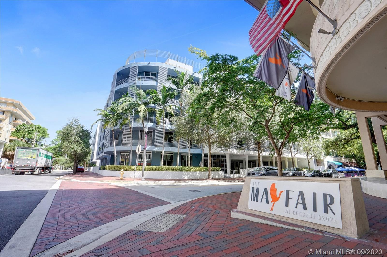Highly motivated seller. This rare gem is ready for its new owner. Located in the very heart of Coconut Grove, just minutes south of Downtown and the Beaches, this quaint scenery and amiable atmosphere make this neighborhood one of Miami's premier lifestyle destinations. This quiet boutique building is right across the Mayfair Hotel and the redesigned and famous CocoWalk, a perfect combination of chef-driven restaurants, charming sidewalk cafes, chic boutiques & much more making this neighborhood a place brimming with scenic serenity and natural splendor. This spacious and bright apartment offers an open layout, incredible amount of closet space, extra large balcony, marble floors & over 1000SF, a unique opportunity to live in the best neighborhood of Miami at the  most competitive price.