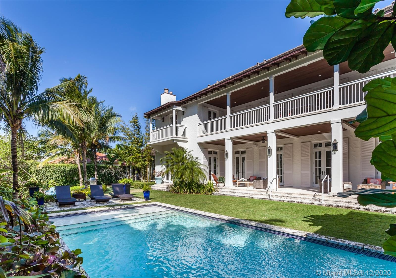 Located in Gables by the Sea, this corner custom built 2-story waterfront home is perfection in every way. French doors lining the back of the home provide exceptional views of the canal, sparkling pool, and garden. The home features a gourmet kitchen, large upstairs and downstairs family rooms, formal dining room, guest house, and a master suite with direct canal views. With every detail a mark of perfection and no expense spared, this one-of-a-kind home is truly remarkable.
