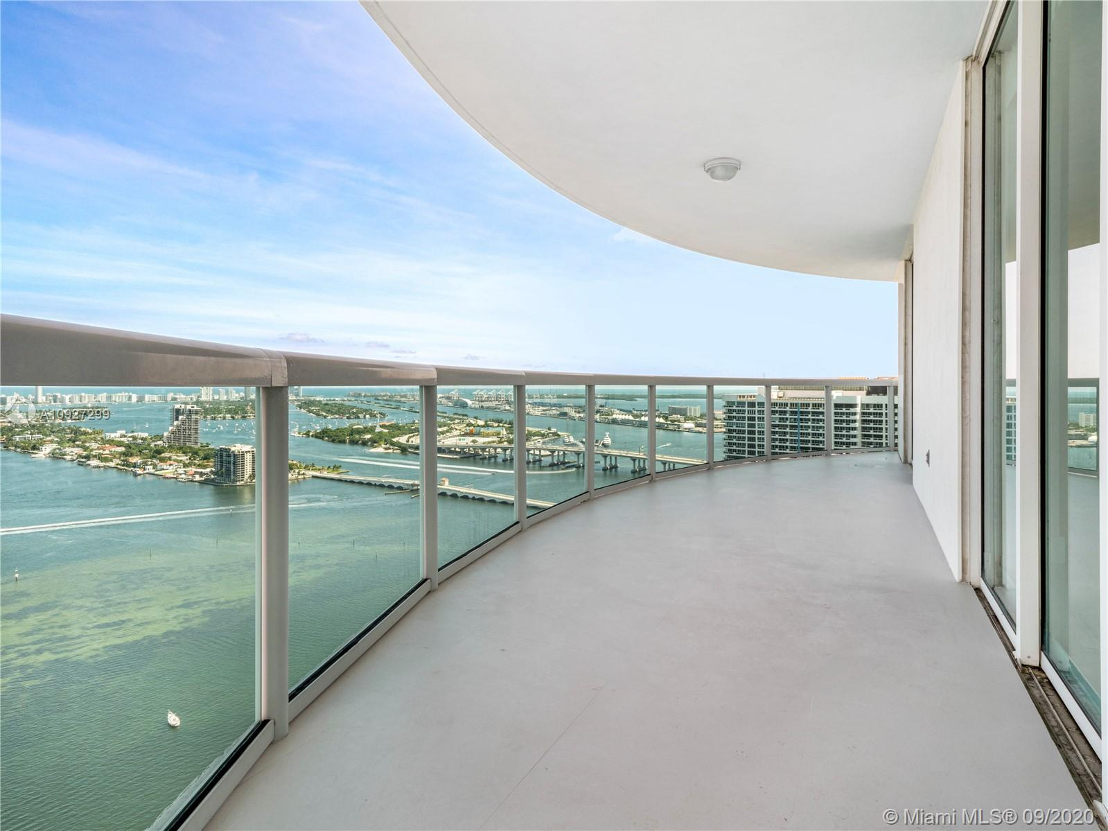 Stunningly renovated 3 bedroom, 3 bathroom corner unit on high floor at the 1800 Club. Enjoy Panoramic views of the the open wide bay, all the way down to south beach and the ocean, port of miami and much more. Units has white tile flooring throughout the common spaces and wood in the bedrooms. Full service building with concierge, swimming pool and gym. Unit comes with 1 deeded garage space and another space through valet. Call today for an appointment!