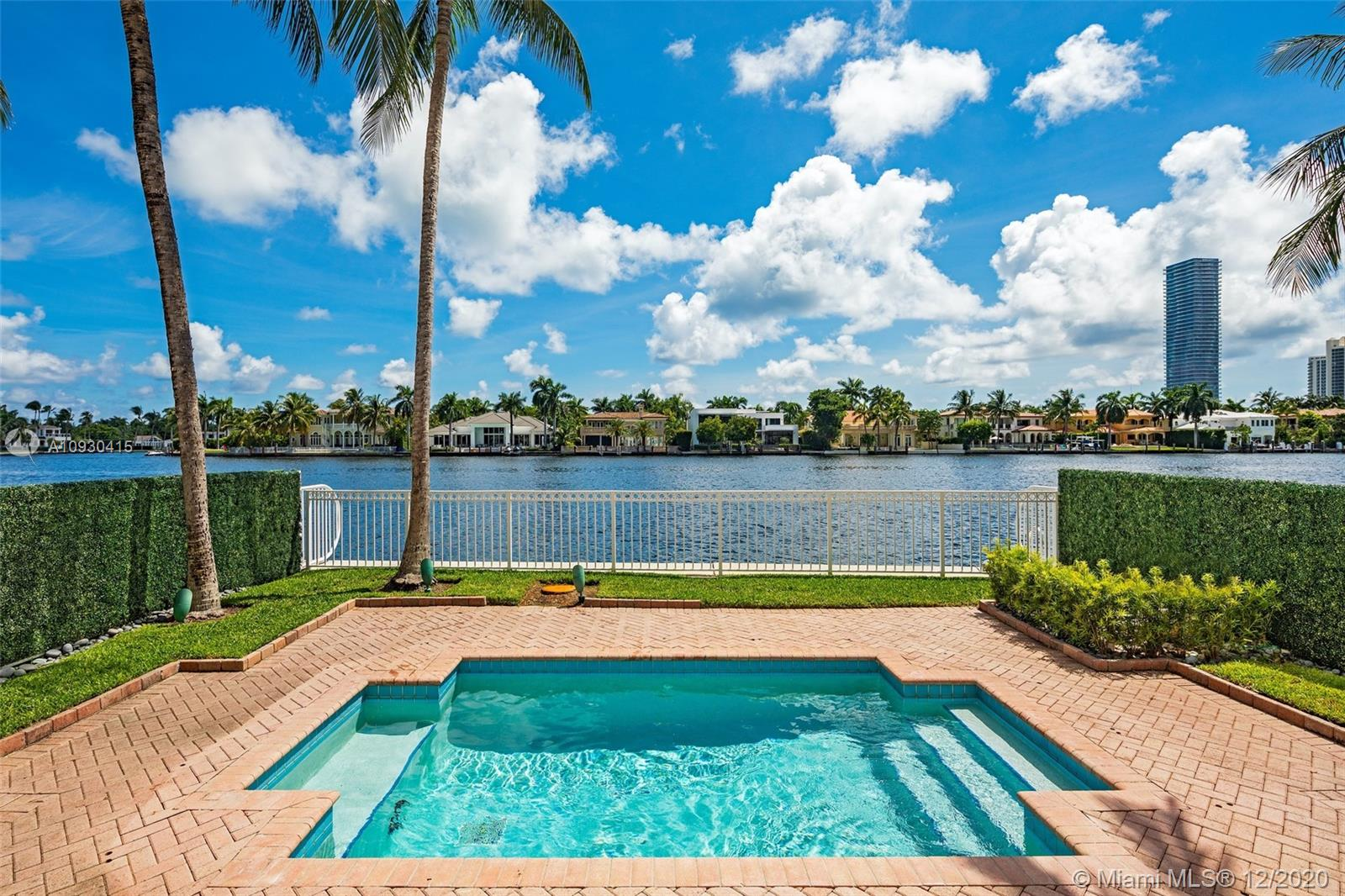 Rarely available & highly sought after! Beautiful intracoastal facing townhouse in Porto Vita, Aventura's most exclusive & luxurious community. This bright 2 story home offers stunning open water views from every room. Features include: elegant & timeless design, soaring 20 ft ceilings & skylights providing natural light throughout, formal dining & living area, Italian chef's kitchen opening into the spacious family room & master wing upstairs includes: sitting area, dual baths/closets & a large terrace facing the water. The private & inviting backyard with a pool offers the perfect space for entertaining & parties. The recently renovated Porto Vita club house has private dining, piano bar, sports lounge, tennis courts, resort style pool, marina & Villa Grande Private Resident's Club.
