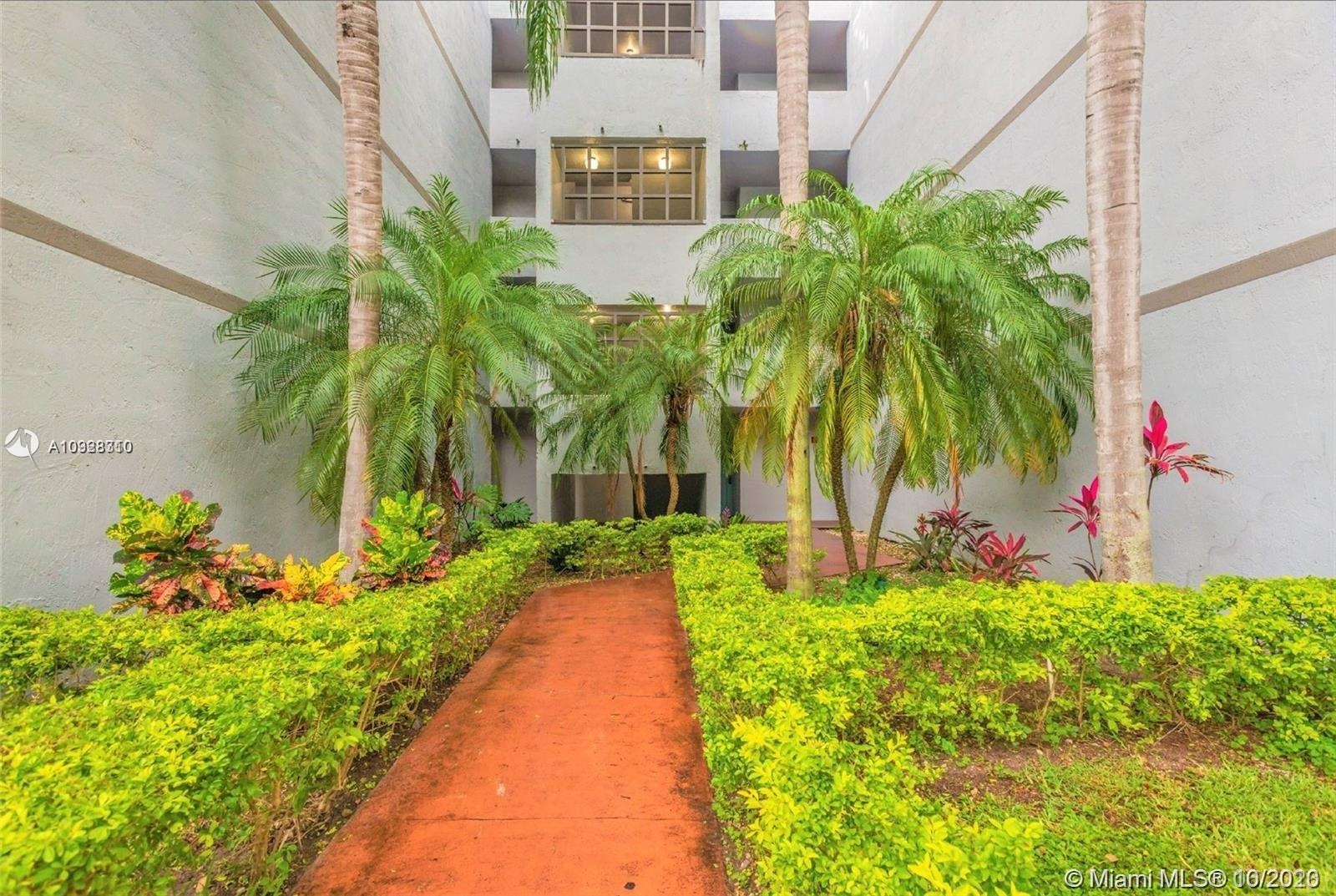 Plenty of light in this bright and spacious 2/2 condo in the heart of Kendall. Living areas have access to an extended balcony with a garden view. The Calusa Club community boasts 24 hr, patrolled security, a large pool, and a tennis court. Condo is tiled throughout, complete with a washer/dryer in the unit. Amazing location near top-rated schools, Baptist medical facilities, Nova University, restaurants, shopping, the FL Turnpike and more.   Your family home in Kendall awaits