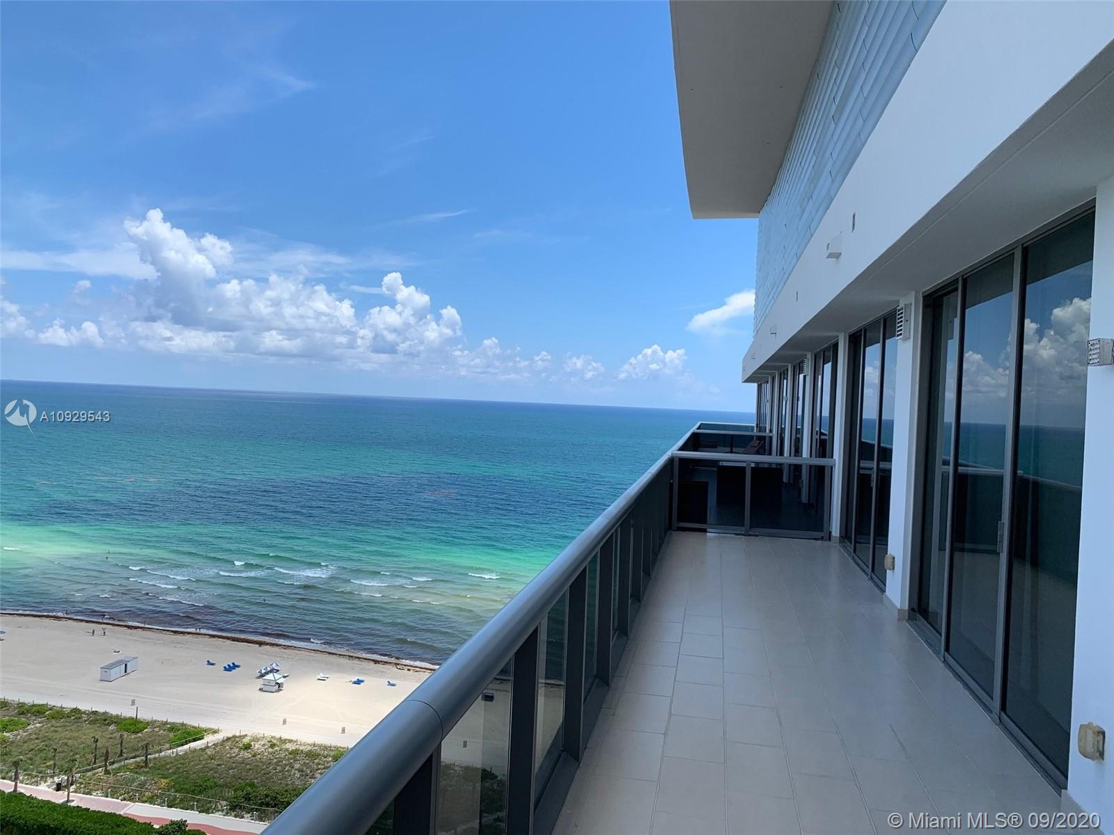 Beautiful PH apartment on state-of-the-art boutique building. Large open balcony with Ocean, Intercostal and City views. 2Br/2.5Ba featuring marble floors, high ceiling glass windows, wooden closets, Jacuzzi/Spa, Thermador and Bosch appliances, espresso maker, wine cooler and much more. Beautiful kitchen and baths, MEI condo offers superb class amenities that include concierge, beach service, spa, gym and free valet for owners/guests