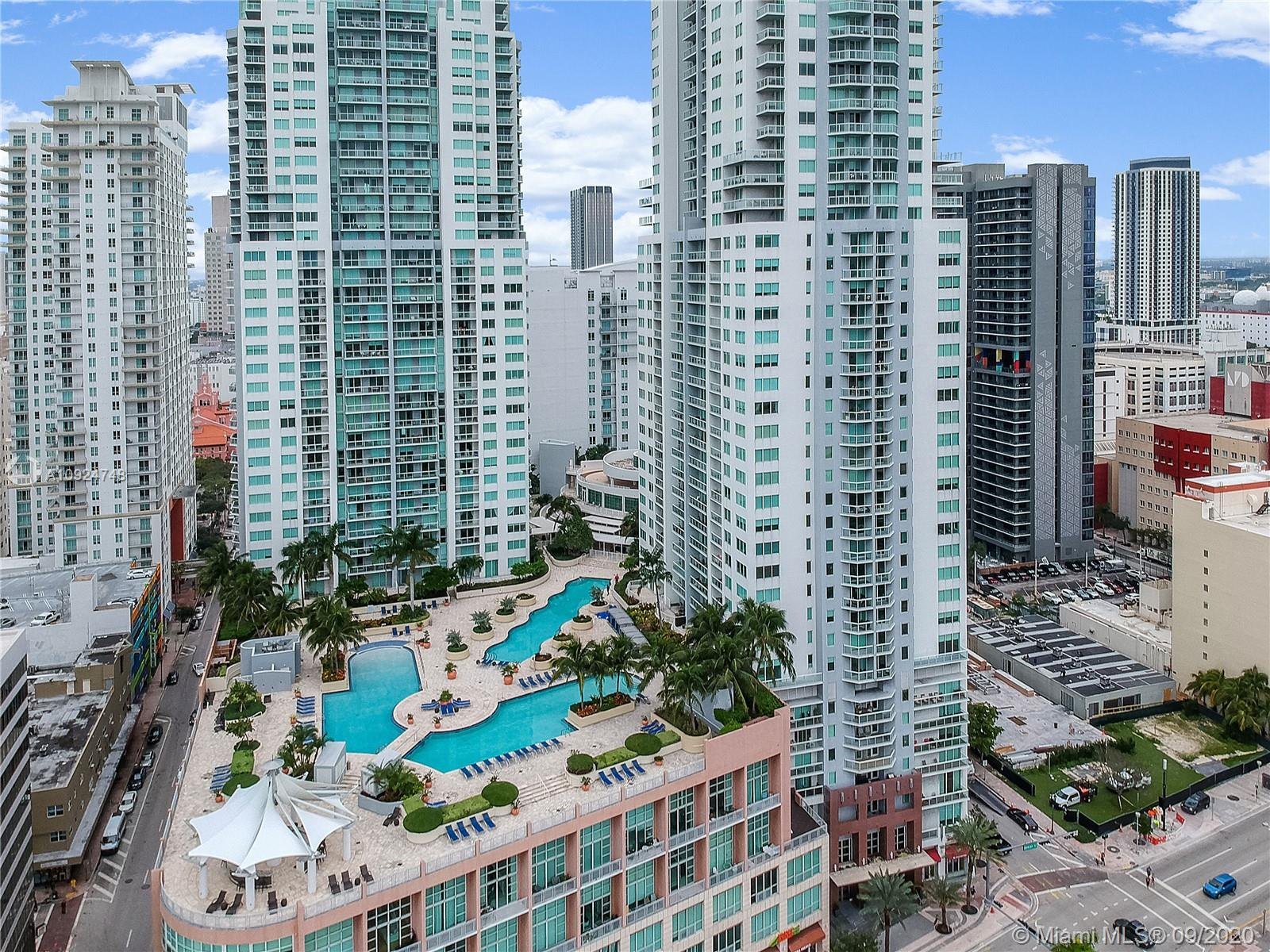 Stunning 2 Bed, 2.5 Ba plus Den (converts to 3rd bedroom) in a high-rise home that entices with open floor plan and panoramic views. Walk into a direct view of the Bayfront Park Amphitheatre with surrounding skyline and the expanse of Biscayne Bay. Fully furnished and impeccably maintained with high ceilings, stone countertops, stainless steel appliances, and luxurious finishes. Best view from highly desired Vizcayne North Tower. Building includes spa, health club, sauna, clubhouse, movie theater, and 4 pools. In close proximity to the best of what Miami has to offer: American Airlines Arena, Bayside Marketplace, Adrianne Arsht Center, PAMM Museum of Art, Frost Science Museum, and Brickell Financial District. Experience the residential sophistication and tropical beauty of downtown Miami.