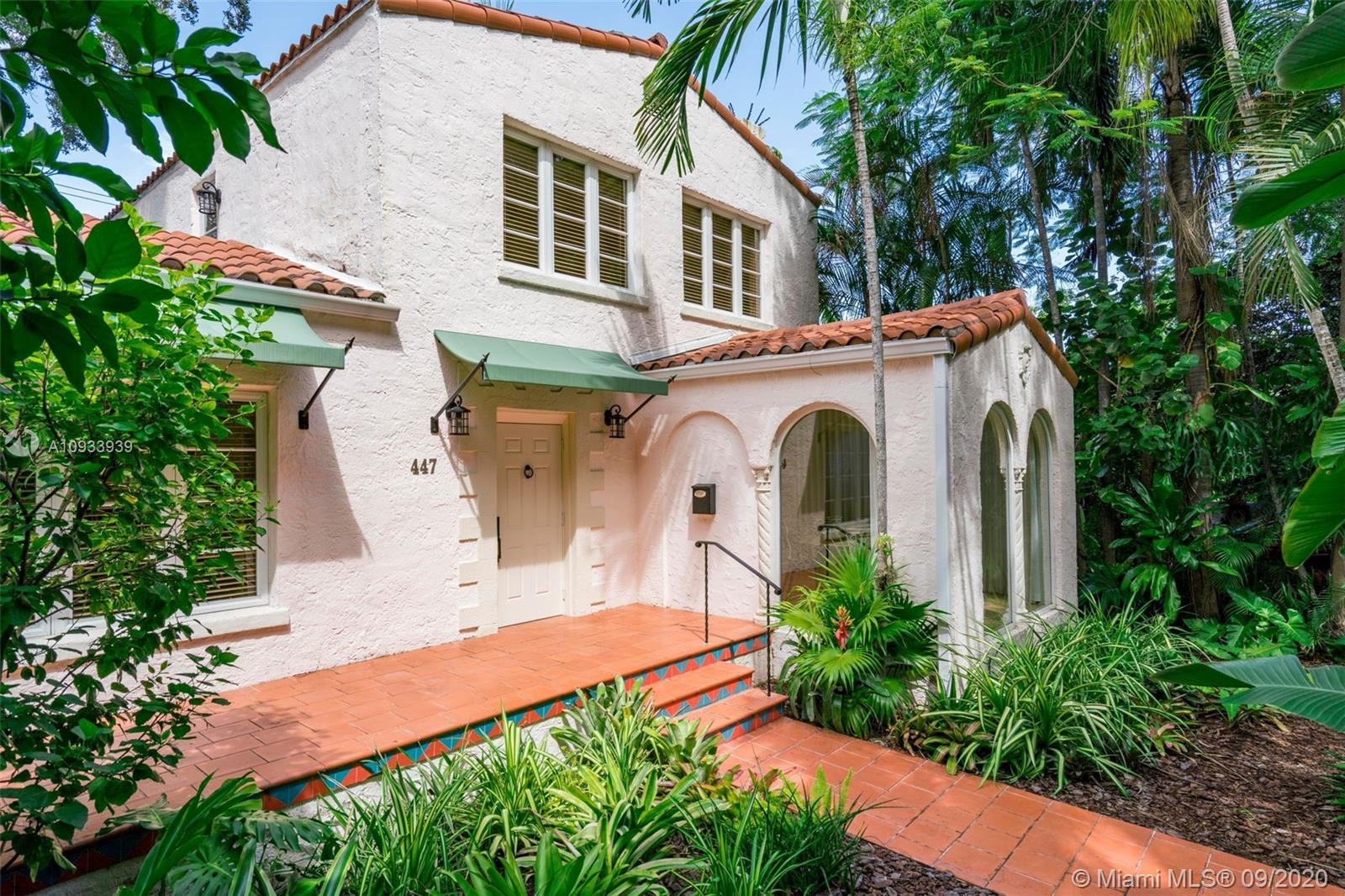 Enticing residential property in the heart of Coral Gables. Walk to Miracle Mile, Restaurant Row, Theaters, and the Trolley route. This landmark Old Spanish house is part of the Alcazar Avenue Historic District and has been featured in the Coral Gables Tour of Kitchens as well as The Villagers Historic House Tour. Fully renovated by Owner/Designer using the latest technology and luxurious finishes throughout.