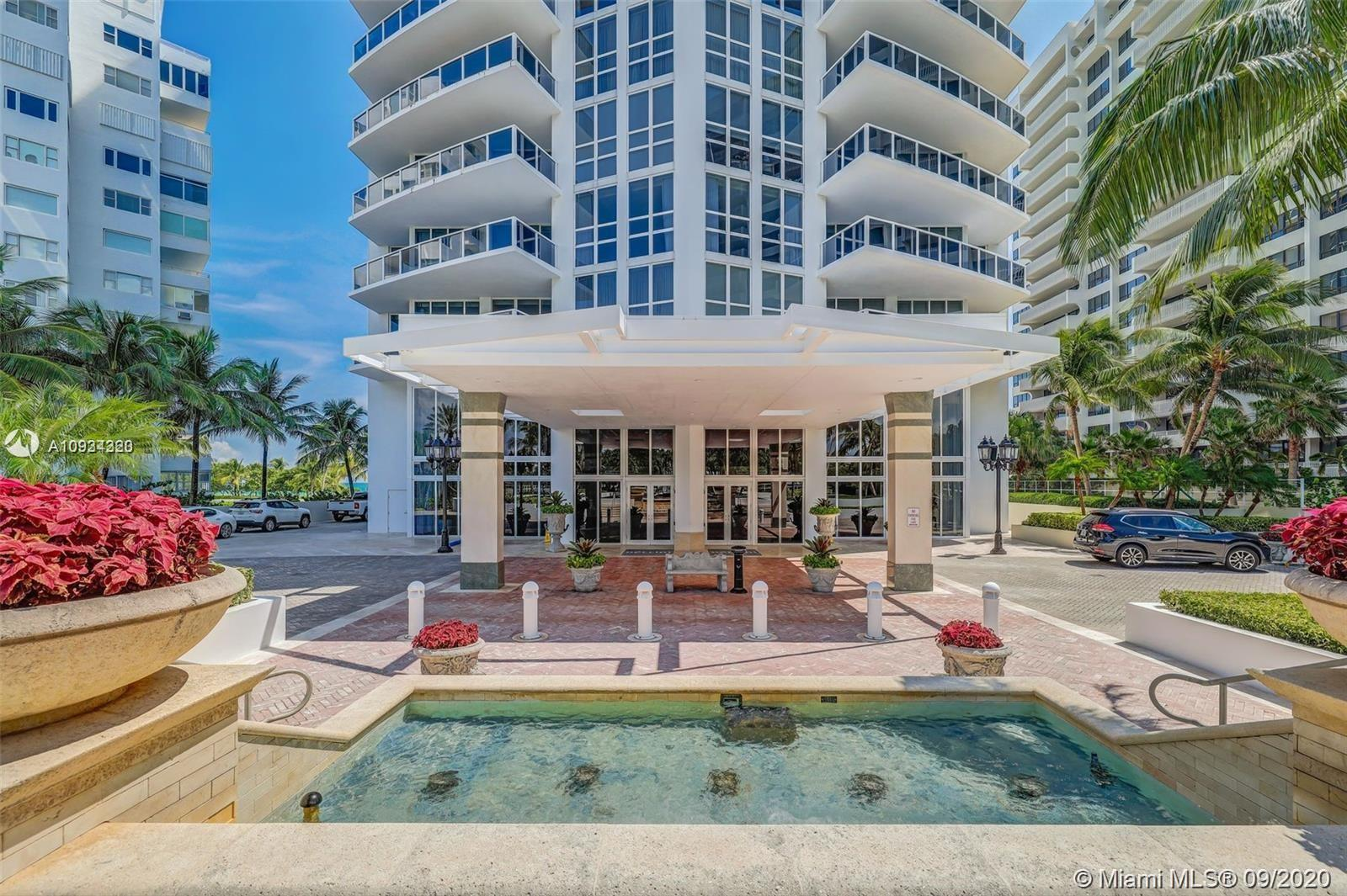 World class building in Bal Harbour. Luxurious NW corner unit on the 20th fl featuring unobstructed panoramic 270 degree views of the Ocean, Intracoastal and Miami skyline.  2918 sq ft of pure enchantment with 800 sq ft of wraparound terrace.  3 bedrooms all with spacious walk-in closets with en suite bathrooms, Maid's quarters with full bath. Private elevator, 10 foot ceilings. Open gourmet PoggenPohl kitchen. Salt water pool, modern gym, spa services, on site restaurant, hurricane impact windows. Walk to Bal Harbour Shops. Pets allowed. 24 hour concierge.