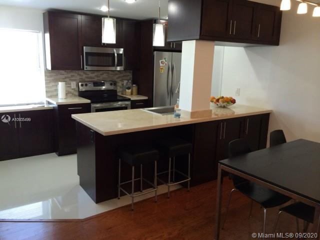 Investor only. Unit rented until Dec 2021. Oversize, bright and spacious corner unit. 1 BEDROOM + DEN, 2 Full Baths. 1300sq/ft. Recently renovated. Hardwood floors, modern open design, stainless steel appliances, energy efficient central A/C. Great condo in quite building in pleasant Bay Harbor Islands. Plenty of closet space. Den is perfect for HOME OFFICE and/or guest bedroom. Assigned parking. Swimming pool. Only TWO ADULT PERMANENT RESIDENTS per unit (+kids under 14 OK). Water included. HOA approval required. Pets under 20 lbs. 15 minute walk to the beach, Bal Harbor and Surfside.