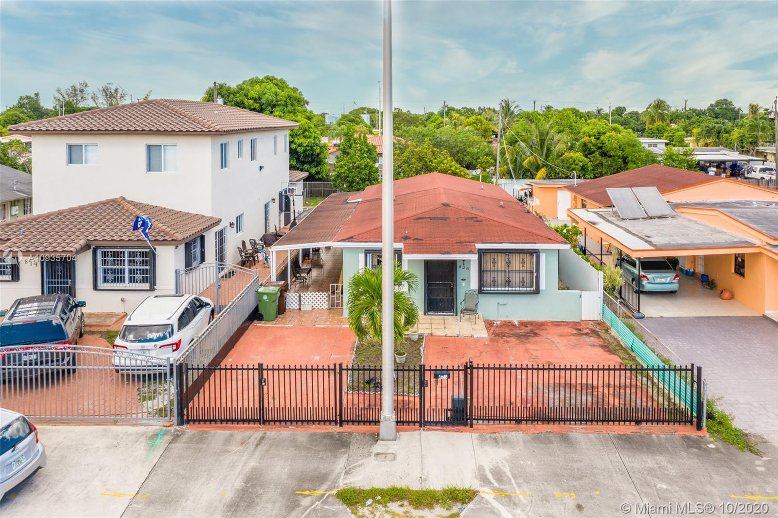 NICE LOCATION IN HIALEAH. SINGLE FAMILY HOME 4/2. The property is located in a quiet zone and has a potential for income. It is one block away from Hialeah Hospital, 5 blocks away from the Metro Rail, close to shopping centers, schools, gas stations, and minutes from Miami International Airport. The exterior of the house has an electric gate, a covered patio, and hurricane shutters, It also has a Colorado mamey tree, and a very fertile avocado tree.