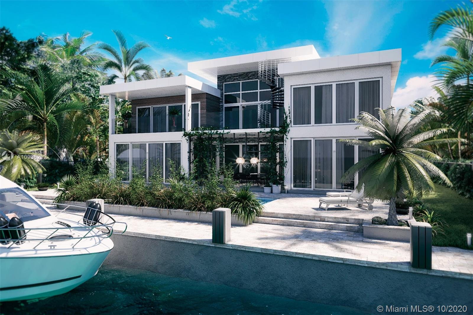 """NEW CONSTRUCTION!!Ft Lauderdale's most prestigious waterfront neighborhoods of Nurmi Isles. CONTEMPORARY 6 BED+LOFT+THEATER/BONUS RM,6.5 BATHS,3 CG, INFINITY POOL & 85 FT DOCKAGE. LINEAR FIRE PLACE,MARBLE IN living areas,ESPRESSO WOOD FLOORS IN ALL BEDS.STATE OF THE ART GOURMET CHEF'S Kitchen, SS, 48"""" BUILT IN REF,6 BURNER GAS COOK TOP,DBL OVENS, VEN TED EXHAUST HOOD,POT FILLER & QUARTZ COUNTER TOPS. MASTER BED WITH WALK IN CLOSET,SITTING RM &COVERED BALCONY OVERLOOKING POOL& WATER. MASTER BATH SPA SUITE WITH MARBLE FLOORS, SEPARATE HIS & HER VANITIES, JACUZZI, RAINHEAD SHOWER & BODY SPRAYS. Walk to shops & beach, quick ocean access."""