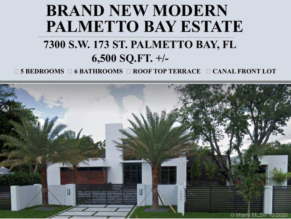 Modern 6,647 Sq Ft Masterpiece right off Old Cutler Road. Pre-Construction Project currently being approved though Palmetto Bay. Located right across the Street from the Bay but Bay Views Abound throughout this Amazingly Designed Estate Home. Kayak Park Across the street with Ocean Access. Adjacent to Old Cutler Road Biking/Jogging/Walking path. 4 Rooms located on the ground floor. At current stage, plans can be modified to Custom Fit your needs! All Rooms have en-suite Bathrooms plus extra Full Cabana Bathroom. Municipal Water & Sewer, no septic tank issues ever! Modern Smart Pool with Sunshelf. Covered Summer Kitchen & Outdoor Entertainment Area. Whole 2nd Floor is the Master Suite. Interior Access to the rooftop terrace. This property is Spectacular! Drive by & feel the ocean beeeze!