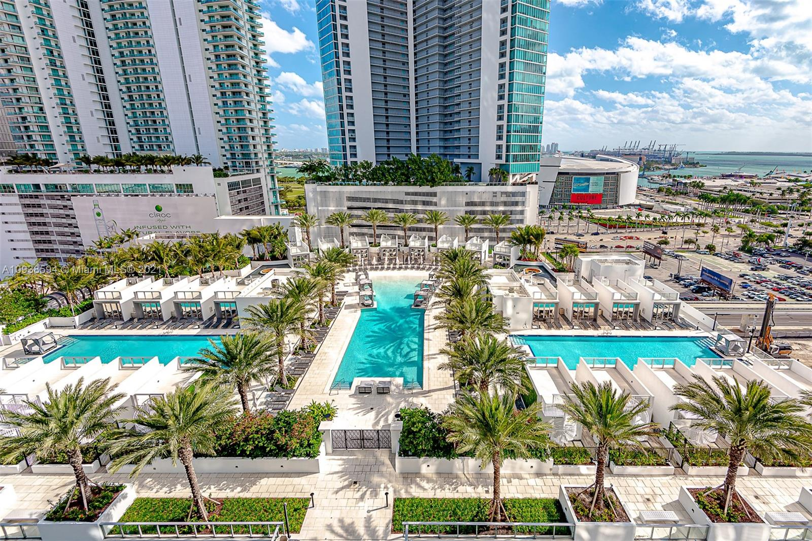Finally one of the most sought after projects is finished - Miami World Center - New unit never lived in , Luxury unit 2 + Den /3 bath(den is enclosed and can be used as 3rd bedroom)Over $75,000 in upgrades on the unit, electric shades all around, custom made closets, ( featuring European kitchen Cabinetry ,10 foot floor to ceiling windows, oversize balcony with water views, facing pool area , best amenities in the area: Basketball Half-Court, Racquetball Court, Relaxation Areas: Conservatory, Relaxation Lounge, Spa/Salon, Indoor Sports Center(State-of-the-art Fitness Center ,Boxing Studio, and Aerobics Area), Entertainment Center,