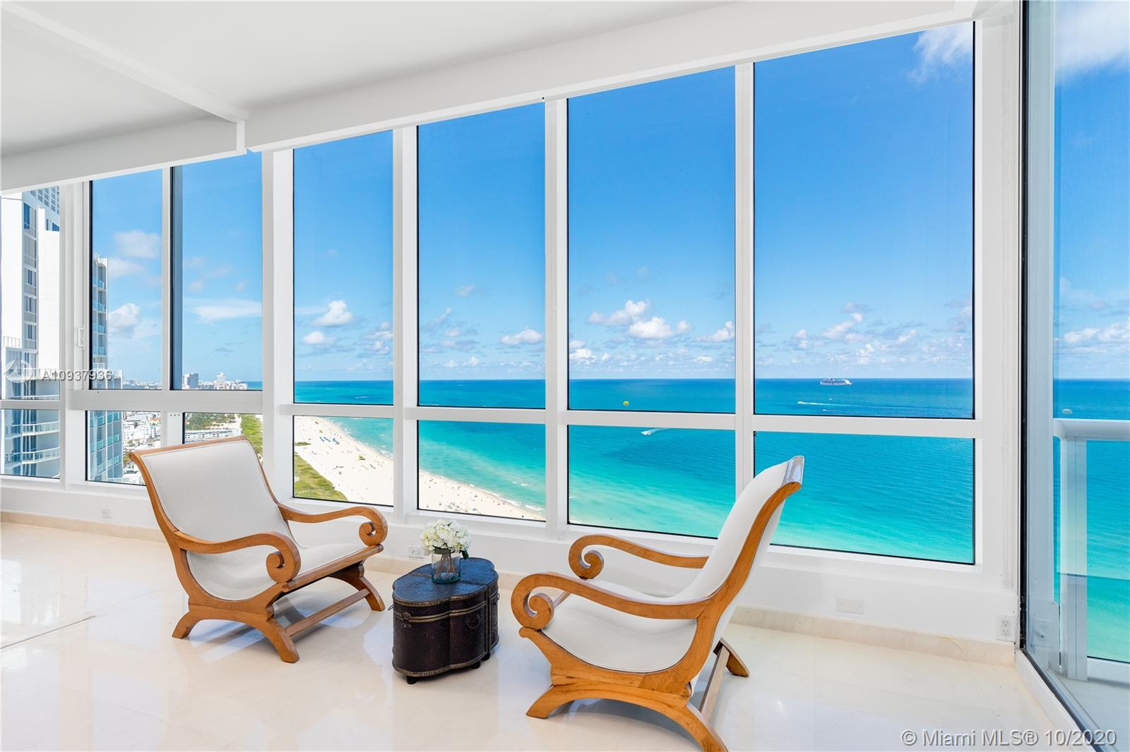 Enter through your private foyer entrance and you are greeted by floor-to-ceiling panoramic ocean views that will take your breath away. From the moment you step in, you are enveloped in the ultimate oceanfront lifestyle. Featuring 2 bedrooms, 2 full bathrooms, unobstructed Atlantic Ocean and Government Cut views from every room, an oceanfront balcony offering the epitome of relaxation, gourmet kitchen with Sub Zero and Miele appliances, walk-in closets in every room, dual sinks in the principal bathroom suite, ample storage throughout and a full marble finished 2nd bathroom. Enjoy luxury resort-style amenities including beach club, spa, state-of-the-art fitness center with rooftop lap pool, 2 lagoon pools, lap pool, on-site restaurant, 3 tennis courts, valet, concierge and 24-hr security.
