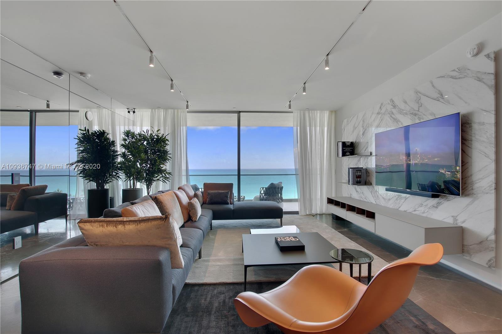 NEWLY REMODELED UNIT IN OCEANA BAL HARBOUR. STATE OF THE ART RENOVATION, WITH INCREDIBLE ITALIAN FINISHES. TOP OF THE LINE FURNITURE BY BAXTER, MINOTI, RIMADESIO CLOSETS, DESIGNER LIGHT FIXTURES. BOOK MATCH FINEST ITALIAN MARBLE FROM ITALY. OCEANAS 5 STAR AMENITIES INCLUDE A RESTAURANT BY TOSCANA DIVINO, TWO POOLS, CABANAS, GYM/FITNESS ROOMS, LUXURY SPA , HOME THEATER, KIDS ROOM, PARTY ROOM, 2 TENNIS COURTS -  NO EXPENSE WAS SPARED. THE DEN WAS CONVERTED TO A FULL SIZE BEDROOM WITH A SEPERATE DOOR TO FULL BATHROOM. IT IS ONE OF THE NICEST FINISHED UNITS FOR SALE IN OCEANA BAL HARBOUR, COME SEE IT FOR YOURSELF. EASY TO SHOW.