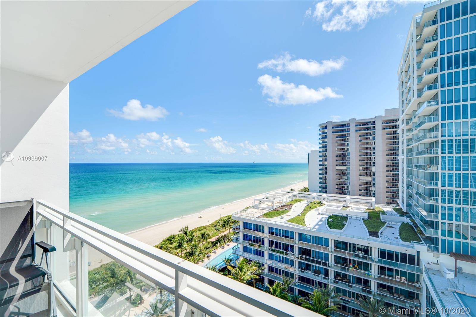 "PRICED TO SELL - Fabulous opportunity to own a beautiful ocean view unit with two balconies at Carillon Miami Wellness Resort, a premier oceanfront luxury property. Impeccably maintained unit with motorized shades, new washer + dryer, high end appliances.  Owners receive 8 spaces on POL, which is, in essence, is 8 ""memberships"" to the Carillon for unlimited use of amenities and classes all included in condo fees. Enjoy 70,000 sqft fitness spa center. Salon, 4 pools, beach service, restaurant, boutique, bar, 24hr security, wellness staff, boardwalk. Quiet neighborhood with all conveniences and restaurants in easy walking distance, including Publix across the street. Come home to your Carillon sanctuary nestled in a luxury community that focuses on optimum health, balance, and tranquility."
