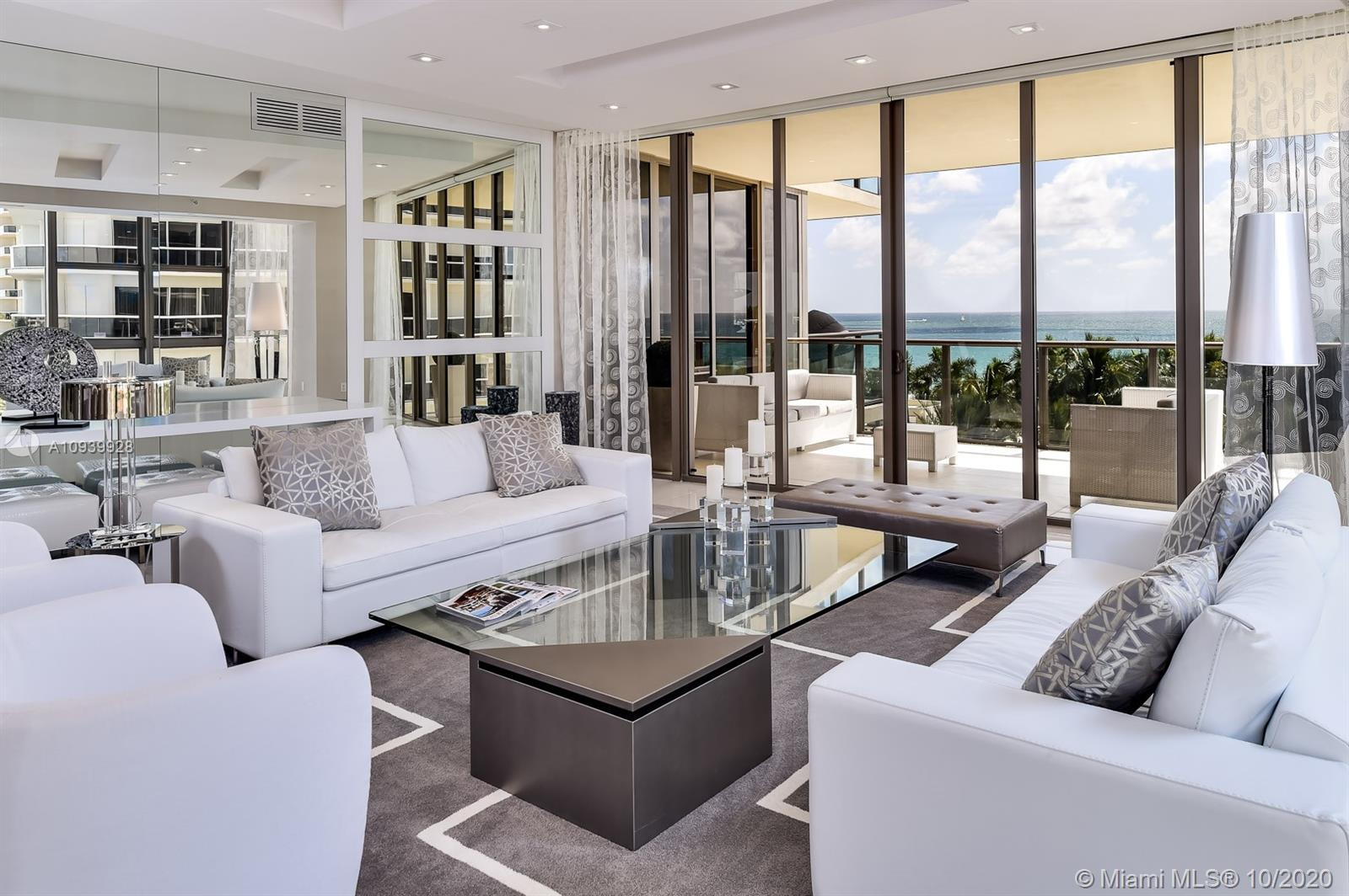 Spectacular residence in one of Miami's most sought after buildings -- St. Regis Bal Harbour. Coveted south tower southeast/southwest flow-through floor plan offers the best of views with three terraces facing sunrise and sunset. Flawless customization and interior design elements throughout including double-size kitchen with extensive high-end appliances, all at the highest level, will leave you breathless. Stunning views along with a modern, stylish design and 5-star resort style amenities paint the details of comfort and luxury made easy.