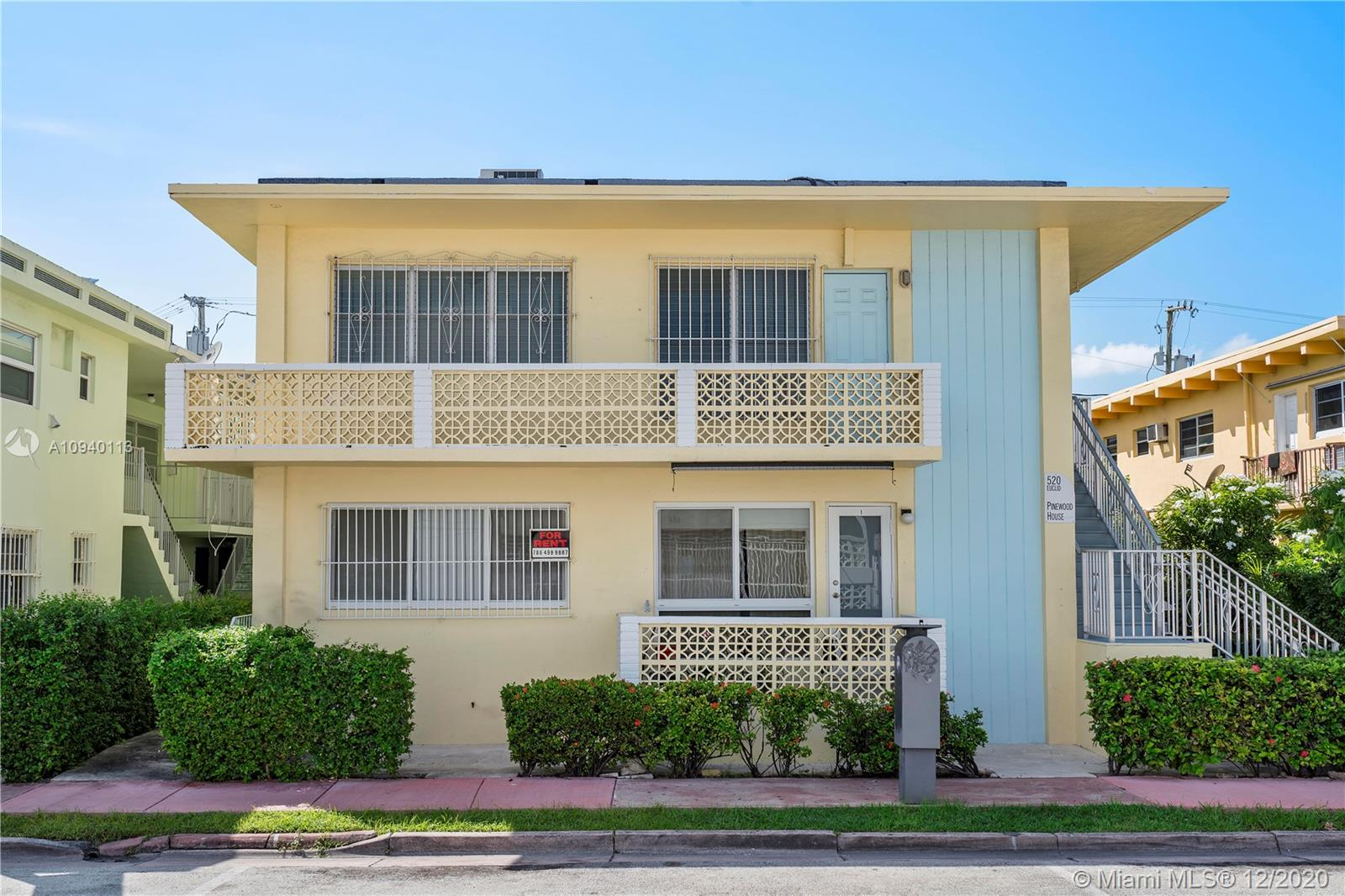 520  Euclid Ave #6 For Sale A10940113, FL