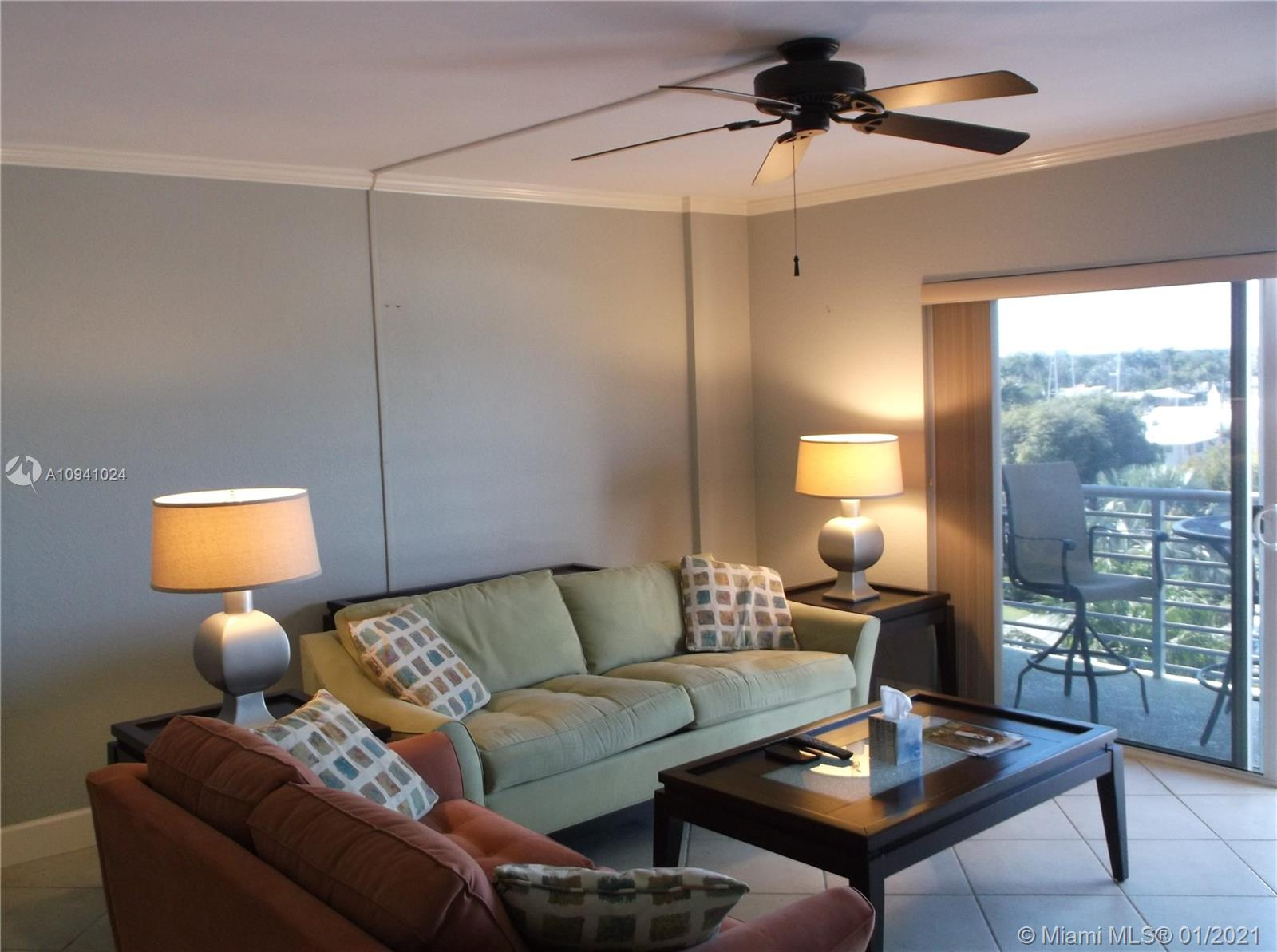 Bright corner unit with clear city views of downtown and beyond. Building just finished major upgrades to exterior and amenities, assessments for which are paid. This 1 bedroom unit has west facing windows and patio for great sunset vistas. All impact windows and sliding door.  Kitchen features all stainless steel appliances and granite counters. Bedroom has large walk-in closet. Amenities include pool on the Intracoastal, fully equipped gym, party kitchen, outdoor gas grills. 43 foot dock space available for separate purchase or lease. Laundries every floor. Walk to beach, grocer, shopping and dining in 5-10 mins. Can be rented immediately, 4 month minimum.