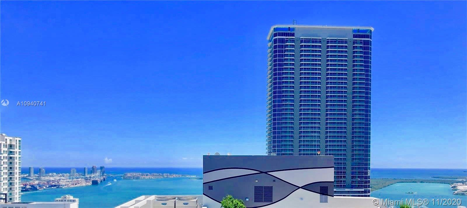 Amazing Home in the Sky from this high floor PH. Bay & Ocean views from this 3 Bed/3.5 Bath at Brickell Flatiron with 10ft ceilings - Brickell Flatiron Great opportunity to call the beautiful and centrally located 64-story glass tower your home. The penthouse residence features Italian premium porcelain and marble floors, Snaidero kitchen , Miele appliances, floor to ceiling windows, expansive terrace with panoramic views of the Miami skyline. Unparallaled services and resort style amenities including a rooftop sky deck on the 64th floor, pool, spa, fitness center with pilates/yoga and aerobics studio, private steam and sauna rooms, children's play area, game room, movie theatre and recreation rooms. Walking distance to world renown shops and restaurants