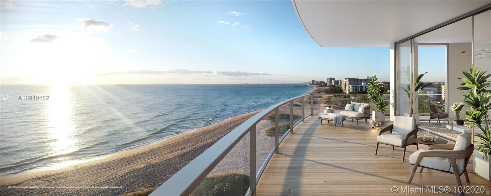Spectacular 3 Bedroom 3.5 Bath + Den at Pompano's HOTTEST new pre-construction property, SOLEMAR! This residence has a flow-through contemporary floor plan featuring floor-to-ceiling windows with breathtaking views of the city, the Atlantic Ocean and the Intracoastal Waterway. Private elevator access and entry foyers in all units. From unforgettable beach views to a stunning pool deck to an enormous 13,000 square-foot terraced green space, SOLEMAR exceeds all of your expectations.