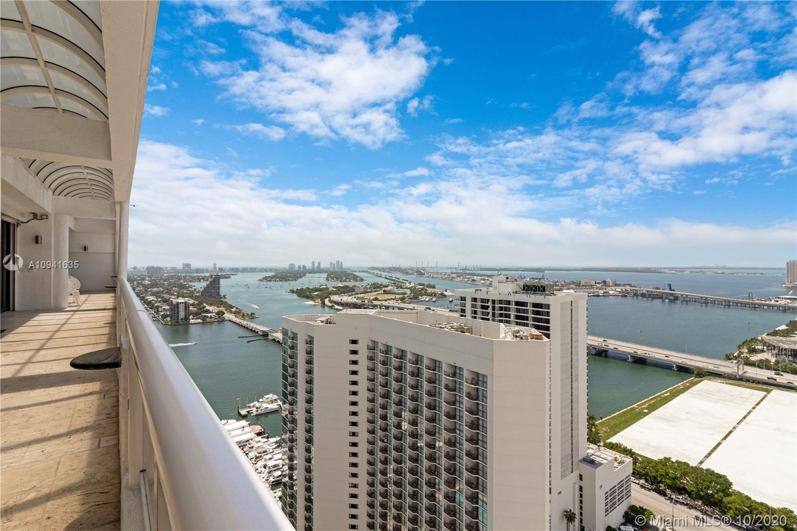 Top floor penthouse with spectacular panoramic views of the bay and the Miami skyline. EVERYTHING in this Penthouse is brand new. 40 X 60 top of the line porcelain flooring and quartz kitchen counters.  Top of the line appliances. Pet friendly building. The location is perfectly centralized between Downtown, Design District, Wynwood, Edgewater, Brickell, Venetian Islands, Sunset Harbour, Lincoln Road, and the beach!!! Feel at home in this Biscayne Bayfront condo with a private balcony. Located in the heart of Miami's exclusive Arts+Entertainment District, just one mile from the Port of Miami, and within walking distance to the Adrienne Arsht Center for the Performing Arts, American Airlines Arena and Bayfront Park. SPECIAL ASSESSMENTS paid by Seller as of closing.