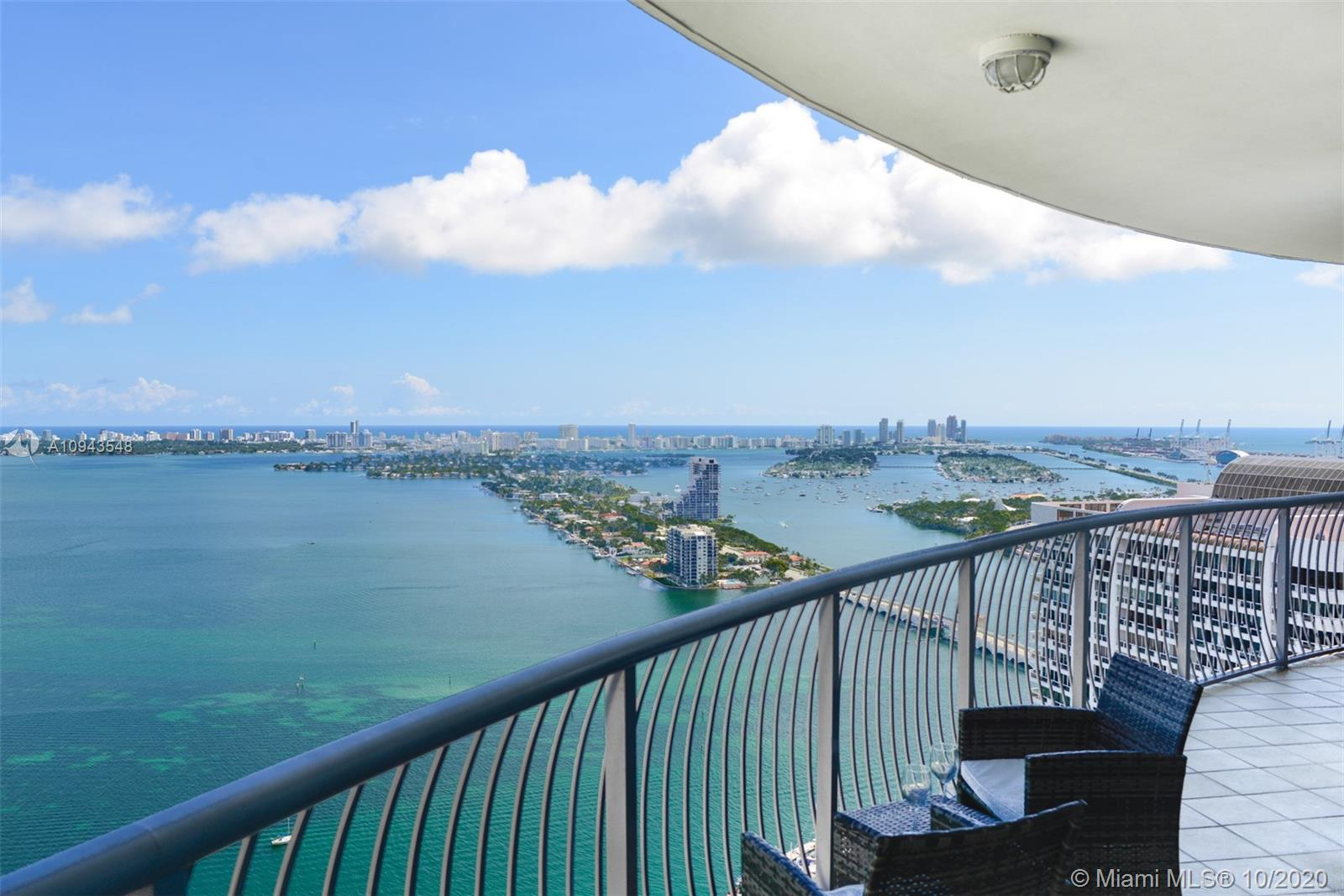 BREATHTAKING BAY AND OCEAN VIEWS. Best line in Opera Tower, 2/2 unit, Enjoy water views from every room. Porcelain floors, stainless steel appliances, huge wraparound balcony. INCLUDES water, cable, internet, Parking on the 2nd Floor. Large Pool, SPA Fitness center. Tennis and volleyball court in the park across the street, Great location! steps to free transportation (Trolley)walking distance to shops, restaurants, and entertainment. 5 min drive to South Beach.