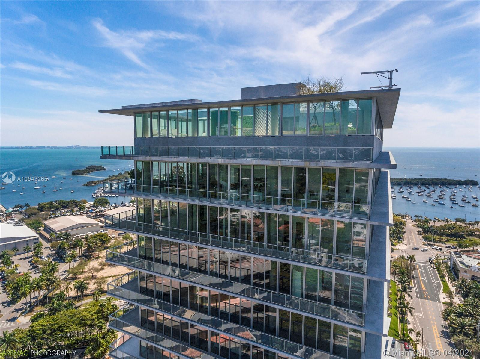 """Grove at Grand Bay AKA """"twisting towers"""" is an architectural masterpiece. Winner of 5 Architectural awards. Unit 2001S is located in the South Tower with only 39 other residences. Enjoy an exclusive, luxurious lifestyle like no other. 12' ceilings and terraces with summer kitchen. Direct waterfront with coveted NE exposure. Unit offers cascading natural light and will be professionally finished by design team. Towers over the neighboring buildings featuring some of the best views of Biscayne Bay, Miami skyline and Coconut Grove. 5 star Amenities include Private on site Chef, Spa, Gym, roof top pool and concierge service."""