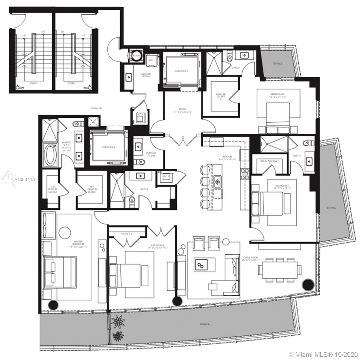 801 S Pointe Dr #PH4 For Sale A10937675, FL