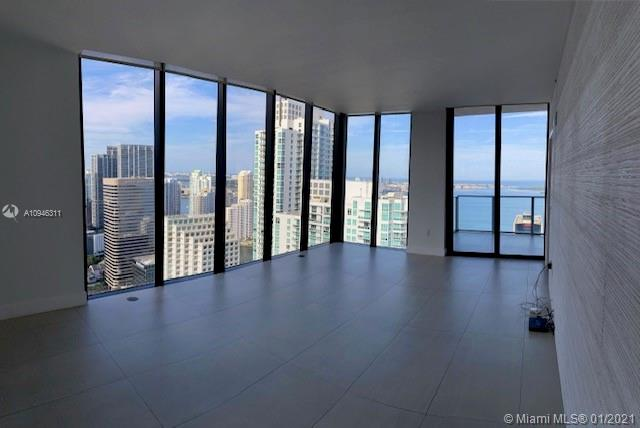 Amazing and Elegant PH corner w/private elevator at 1010 Brickell. 3B/3B + DEN. The best line in the building overlooking the bay, spectacular views! Hight ceilings and top finishes with every fine details. Porcelain Floors Throughout the unit including balcony. The appliances are top of the line. Electric shades and lamps, a fixed parking space and additional valet. Great building with fabulous amenities for families, movie theatre, restaurant, a rooftop swimming pool on the 50th floor, Spa with jacuzzi, massage, sauna and steam room. Mini soccer / squash and Basket ball Court, business Center, Arcade and kids indoor playground. Fitness center with yoga studio. Excellent location next to public transportation, Brickell city center and restaurants.