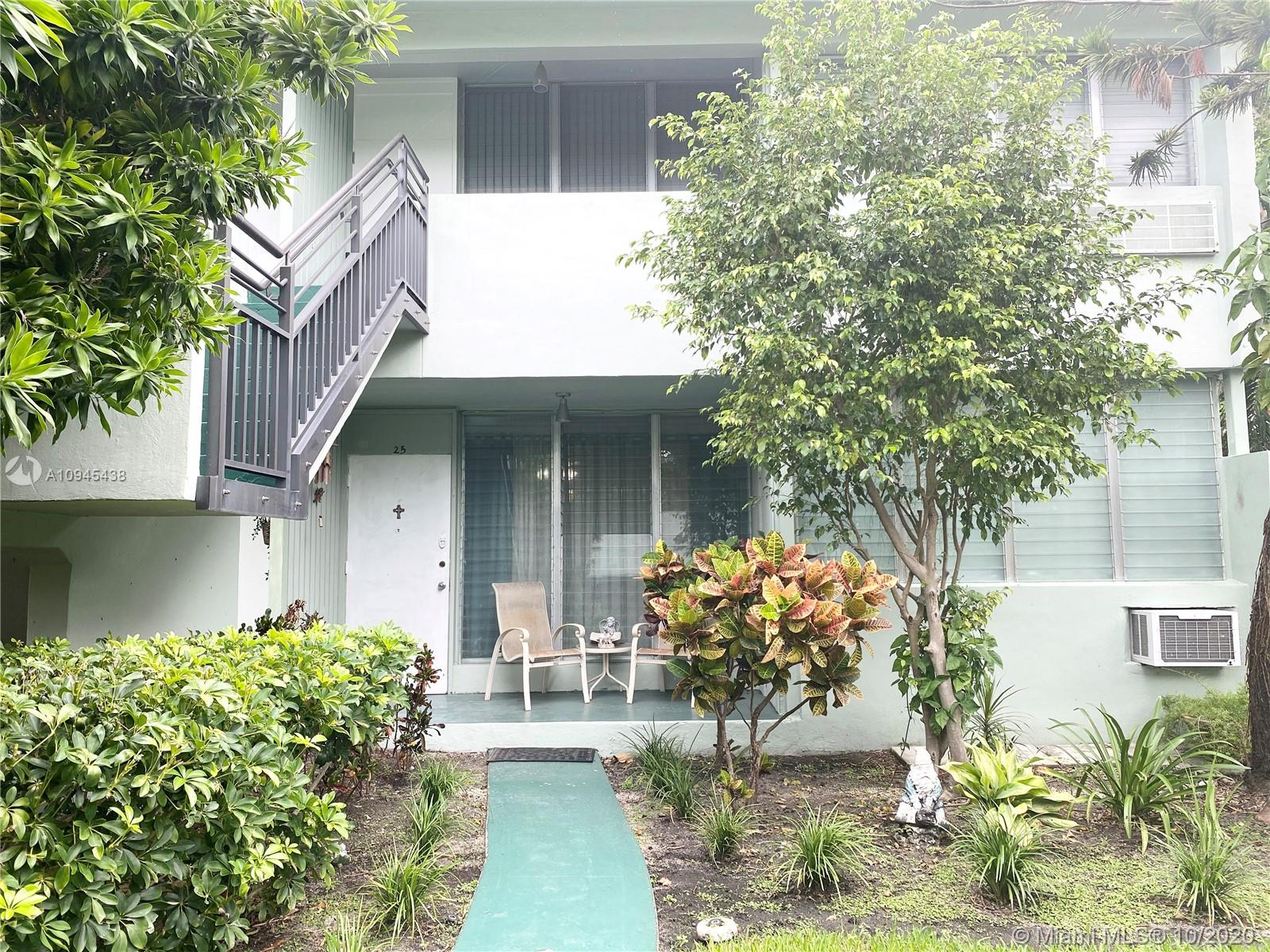 CASH ONLY. 1 Bed/ 1 Bath newly renovated corner unit in a garden style private complex in Bay Harbor Island. Close proximity to Bal Harbor shops and the beaches. Tile floors, new kitchen cabinets,